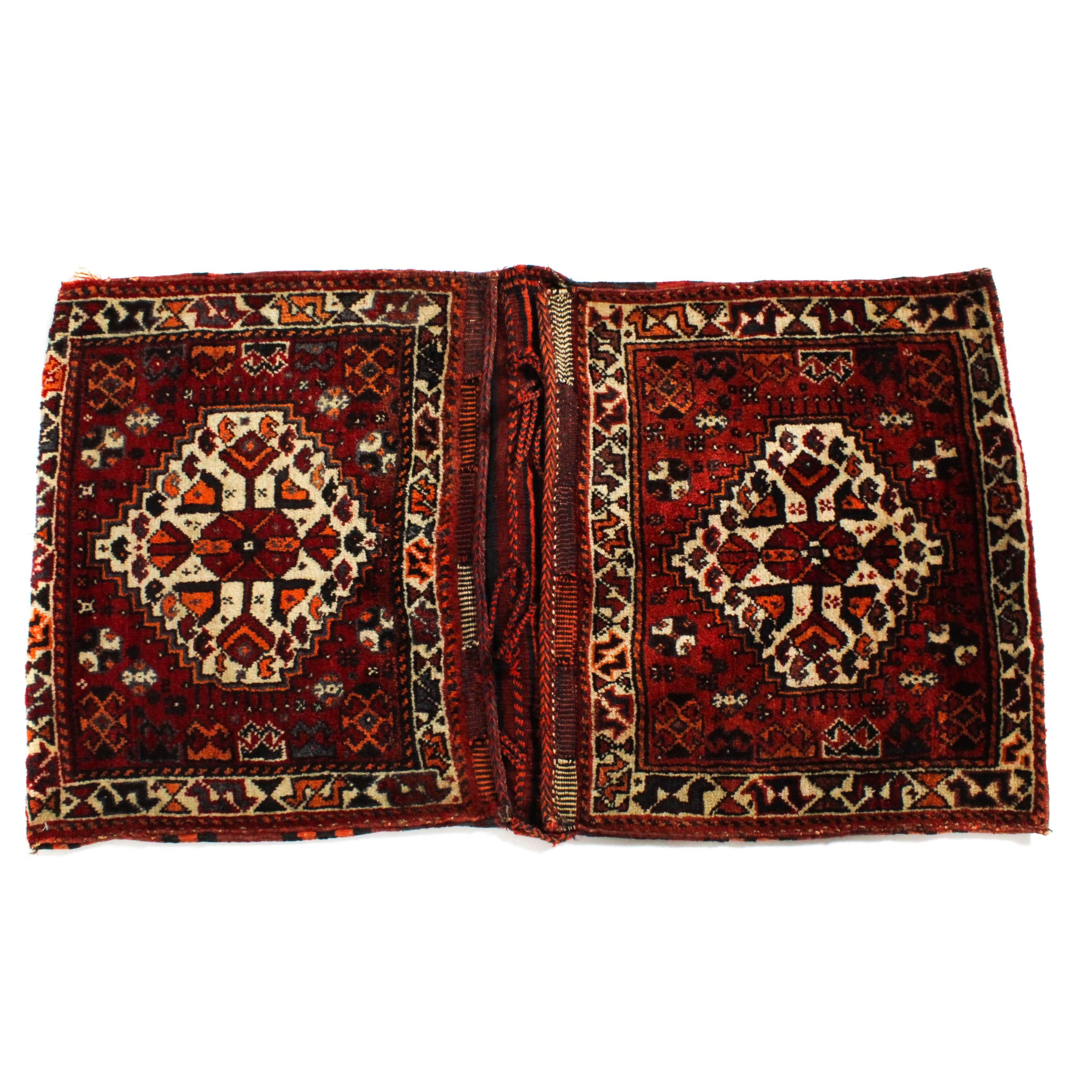 2'3 x 4'1 Semi-Antique Hand-Knotted Persian Varamin Saddlebag