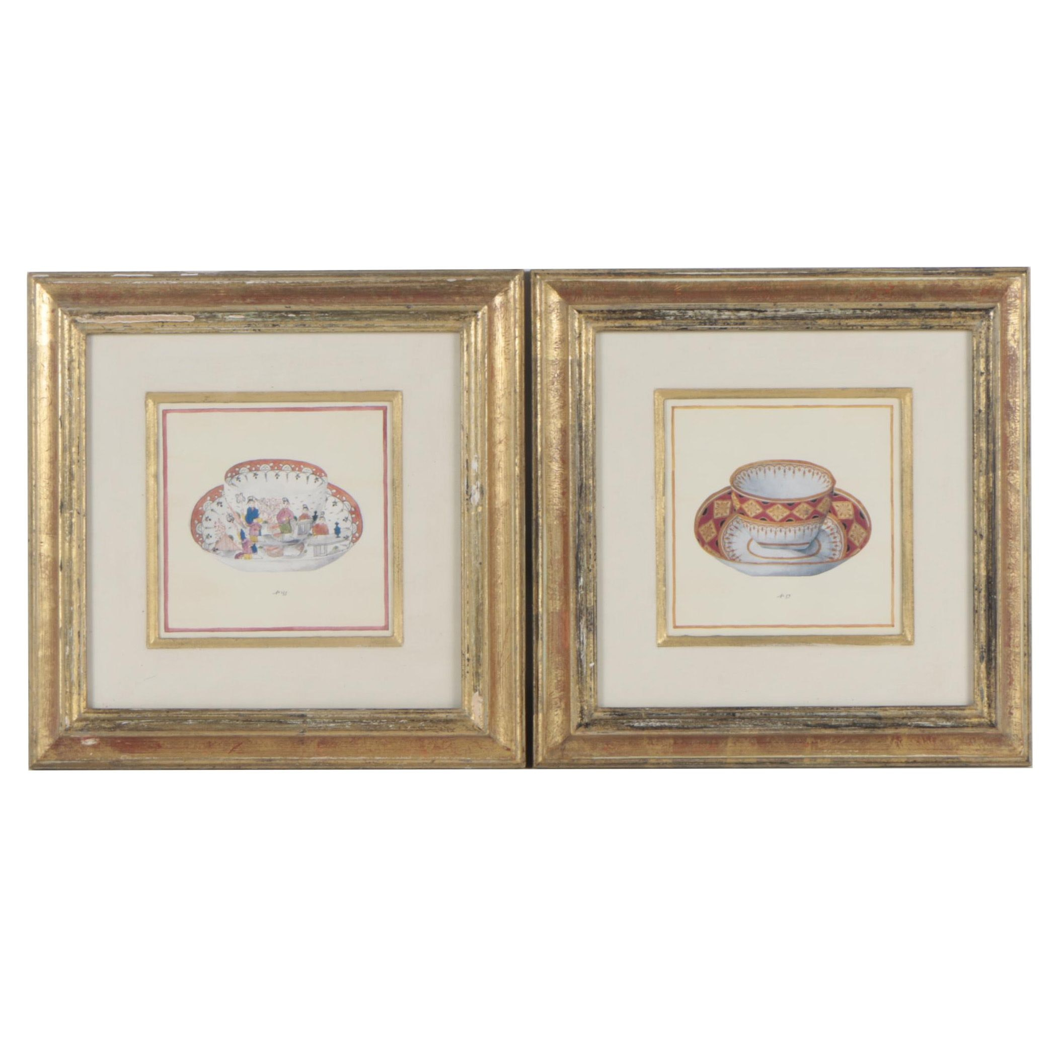 Offset Lithographs of Teacups