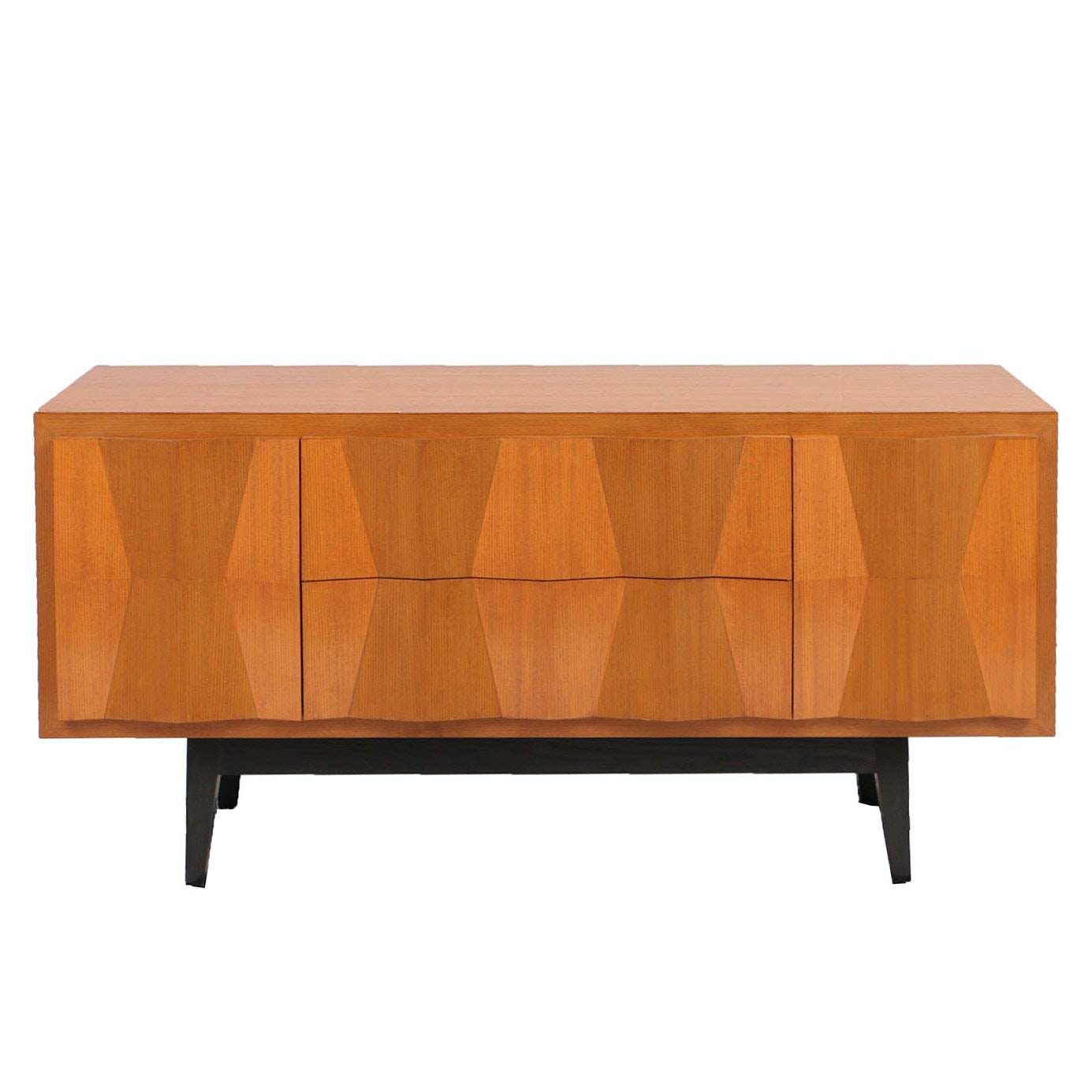 Holly Hunt Credenza with Faceted Doors and Drawers