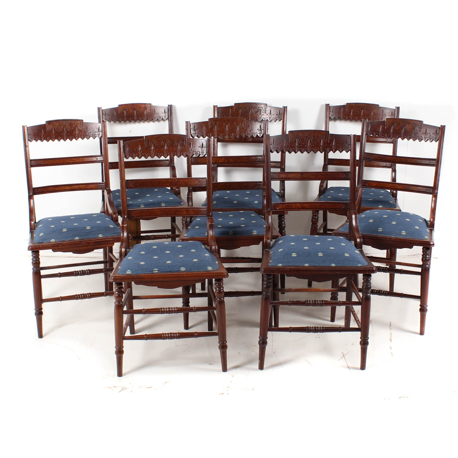 Eastlake Walnut Dining Chairs