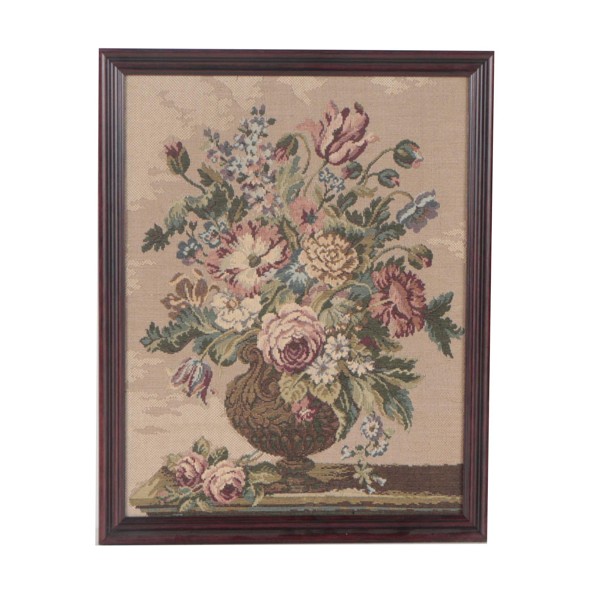 Framed Floral Tapestry