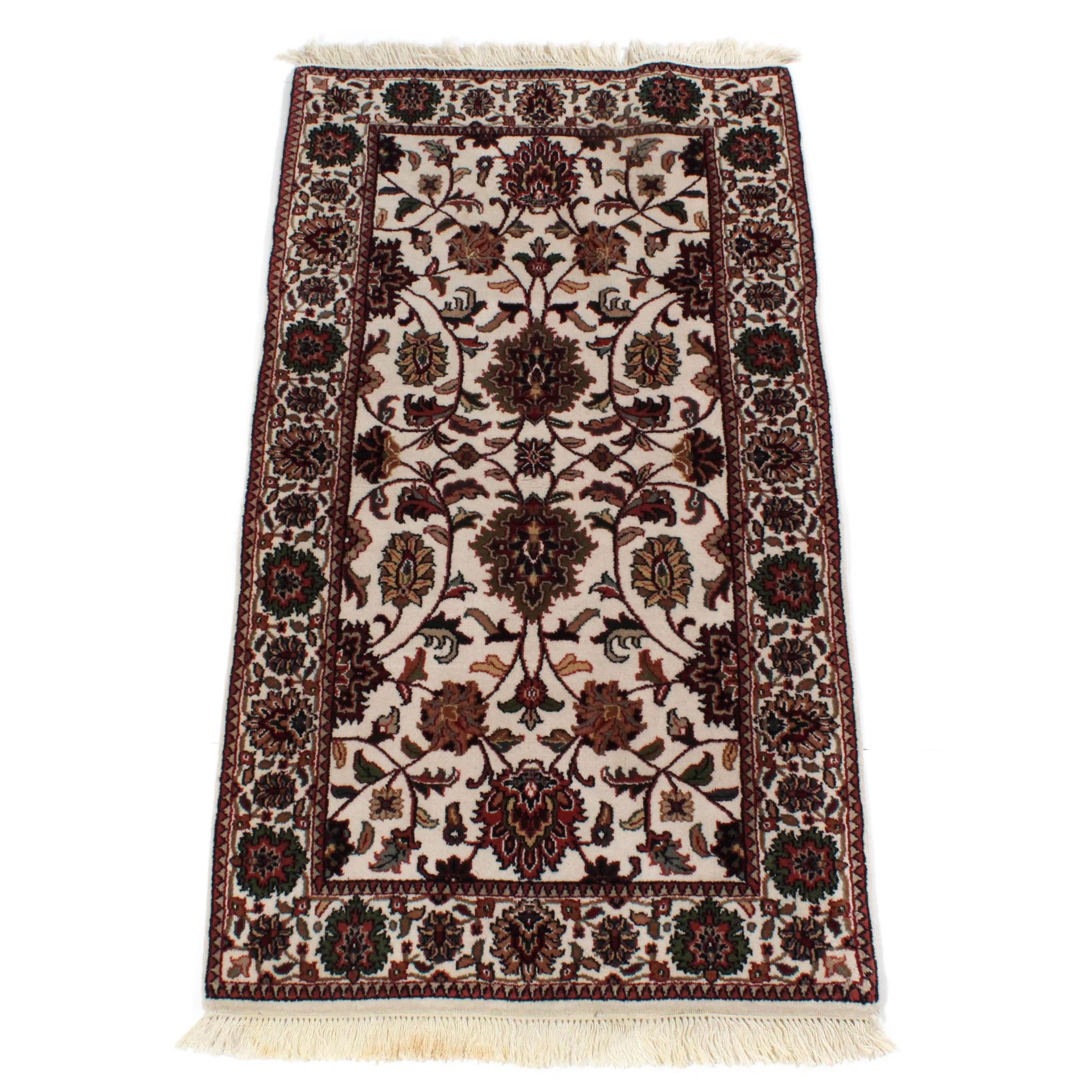 2'10 x 5'8 Fine Hand-Knotted Indo-Persian Mashhad Rug
