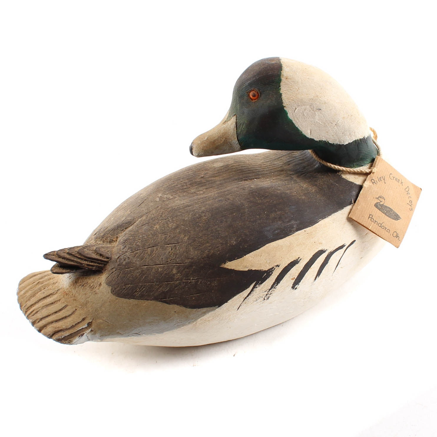 Wallace Lugibihl Hand-Carved Wooden Decoy Duck