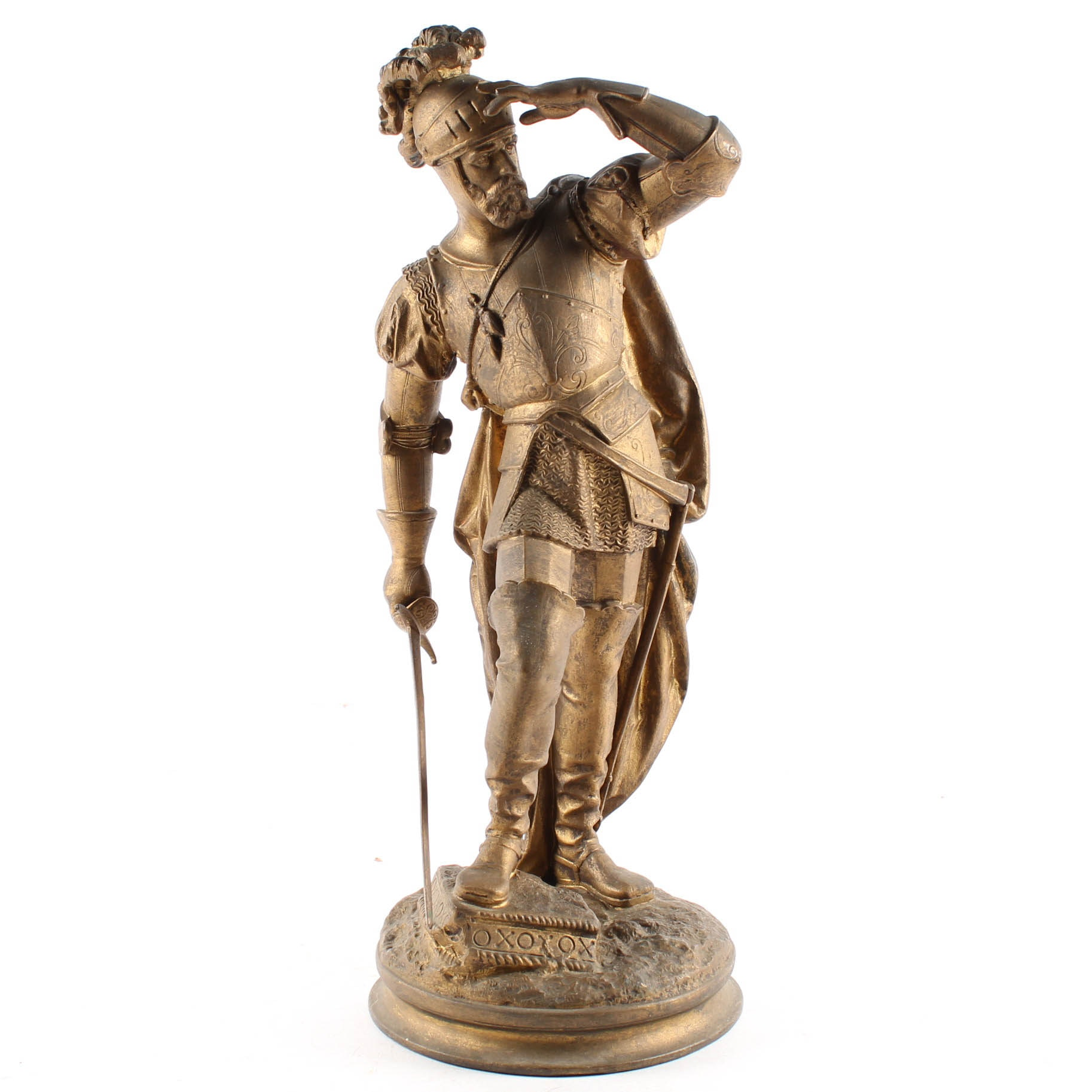 Spelter Metal Sculpture of a Conquistador
