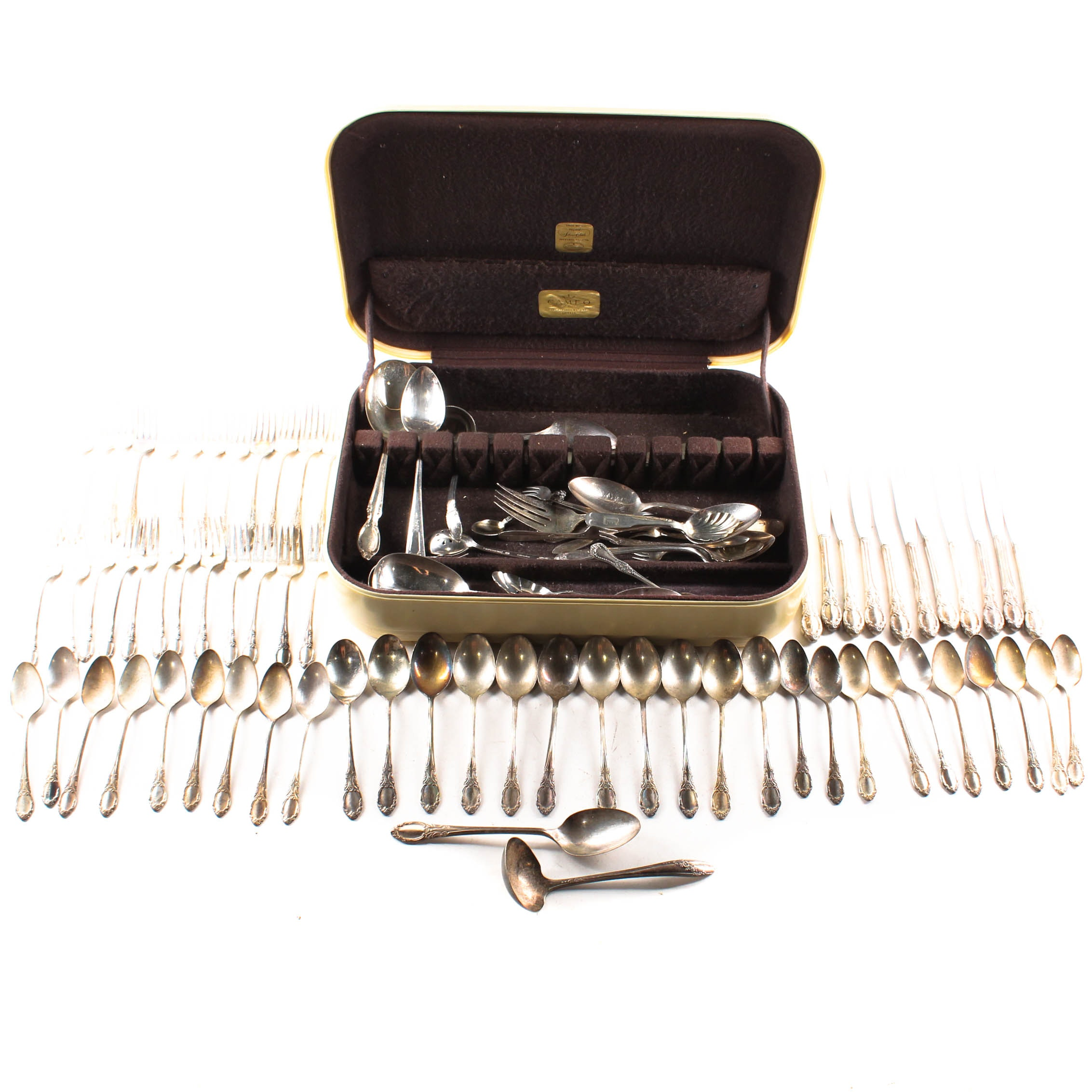 """Wm Rogers """"Park Lane-Chatelaine-Dowry"""" Silver Plate Flatware and Asst. Flatware"""