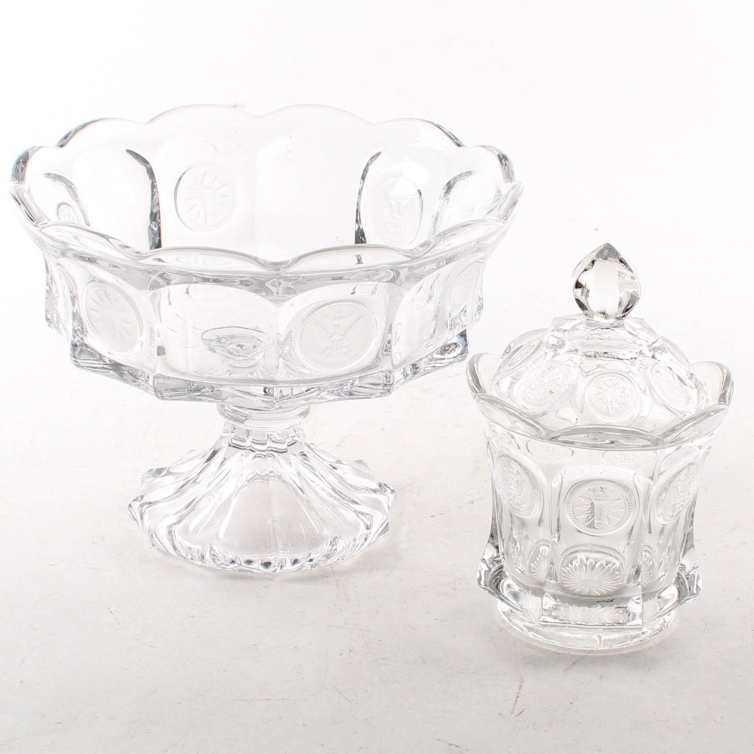 "Fostoria Clear ""Coin"" Glass Tableware"
