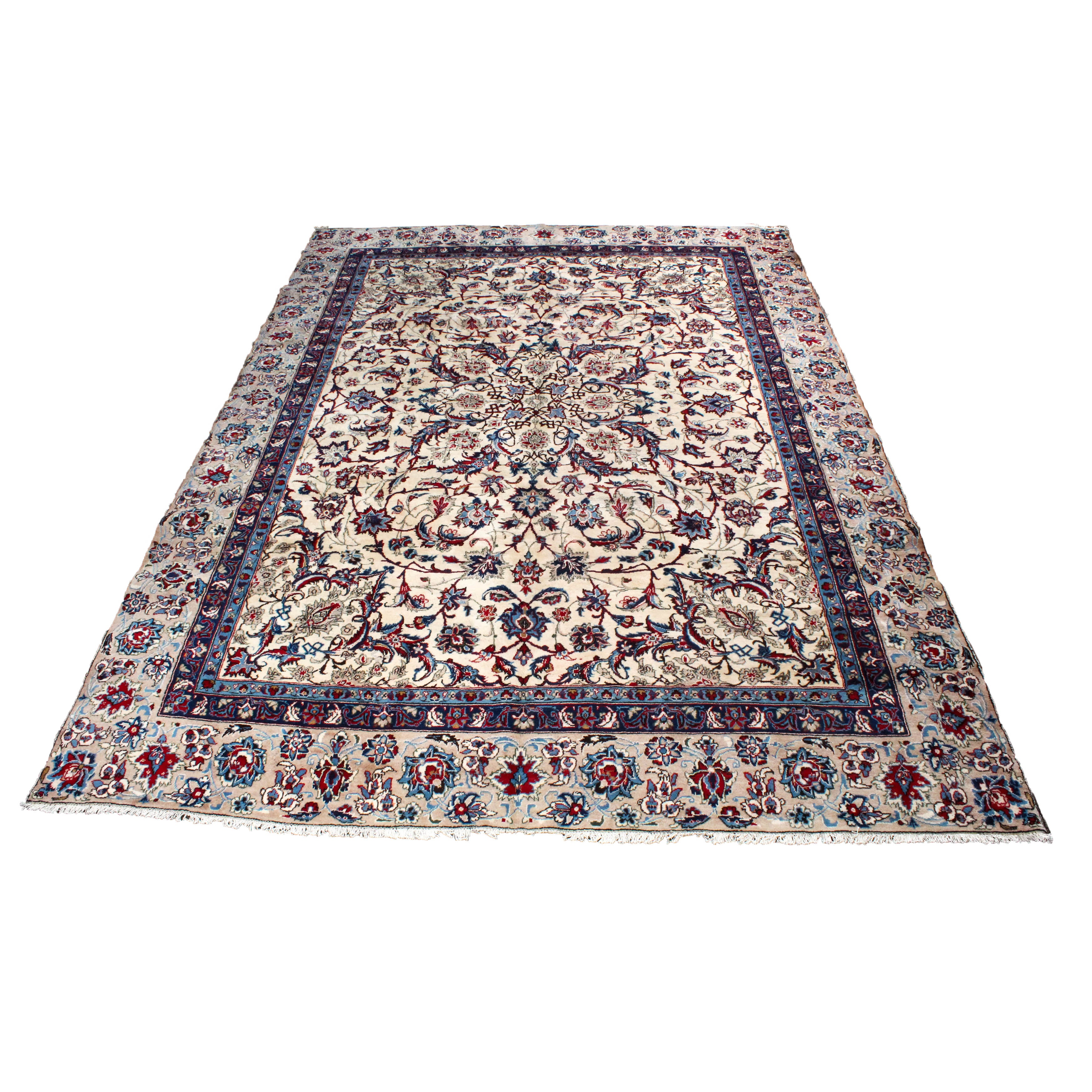 8'11 x 12'6 Semi-Antique Hand-Knotted Persian Kashmar Room Size Rug
