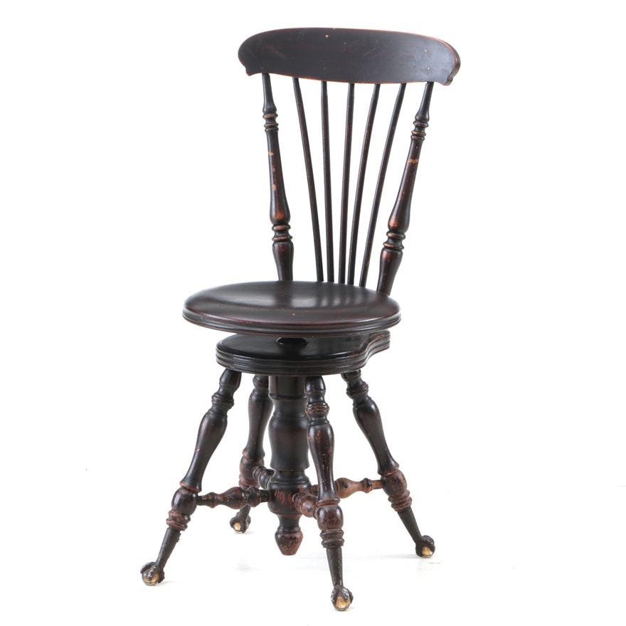 Antique Piano Chair ... - Antique Piano Chair : EBTH