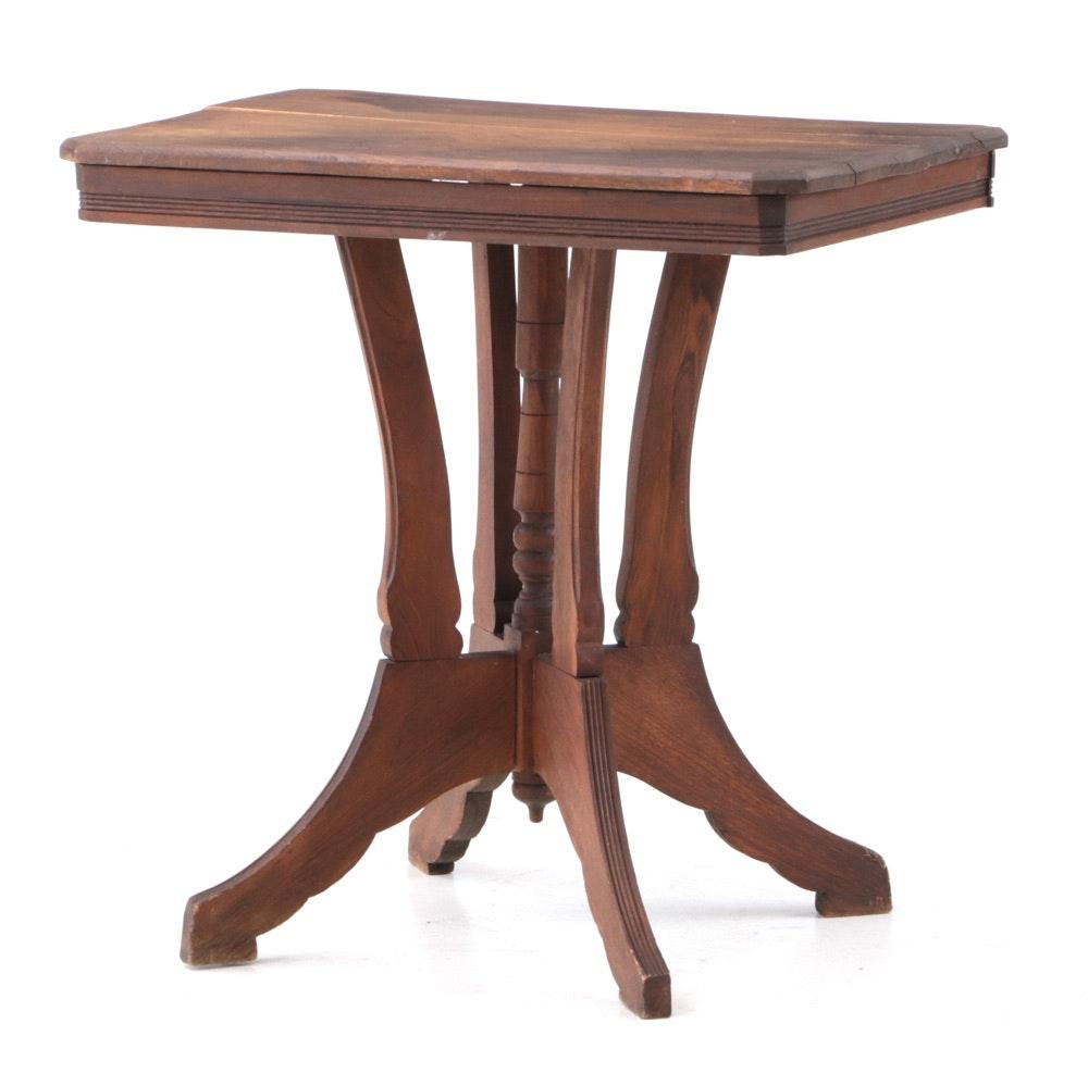 Victorian Walnut Lamp Table