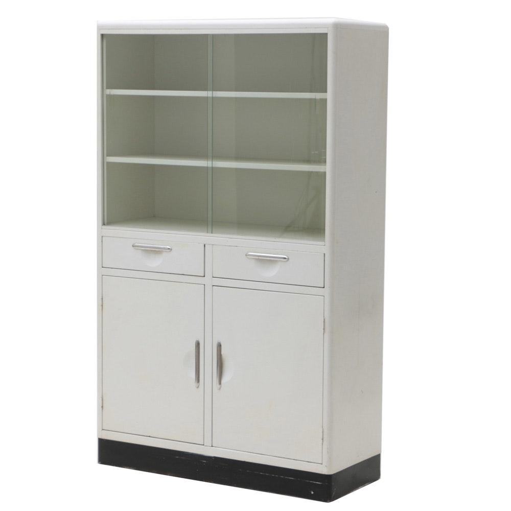 Vintage White Metal Cabinet