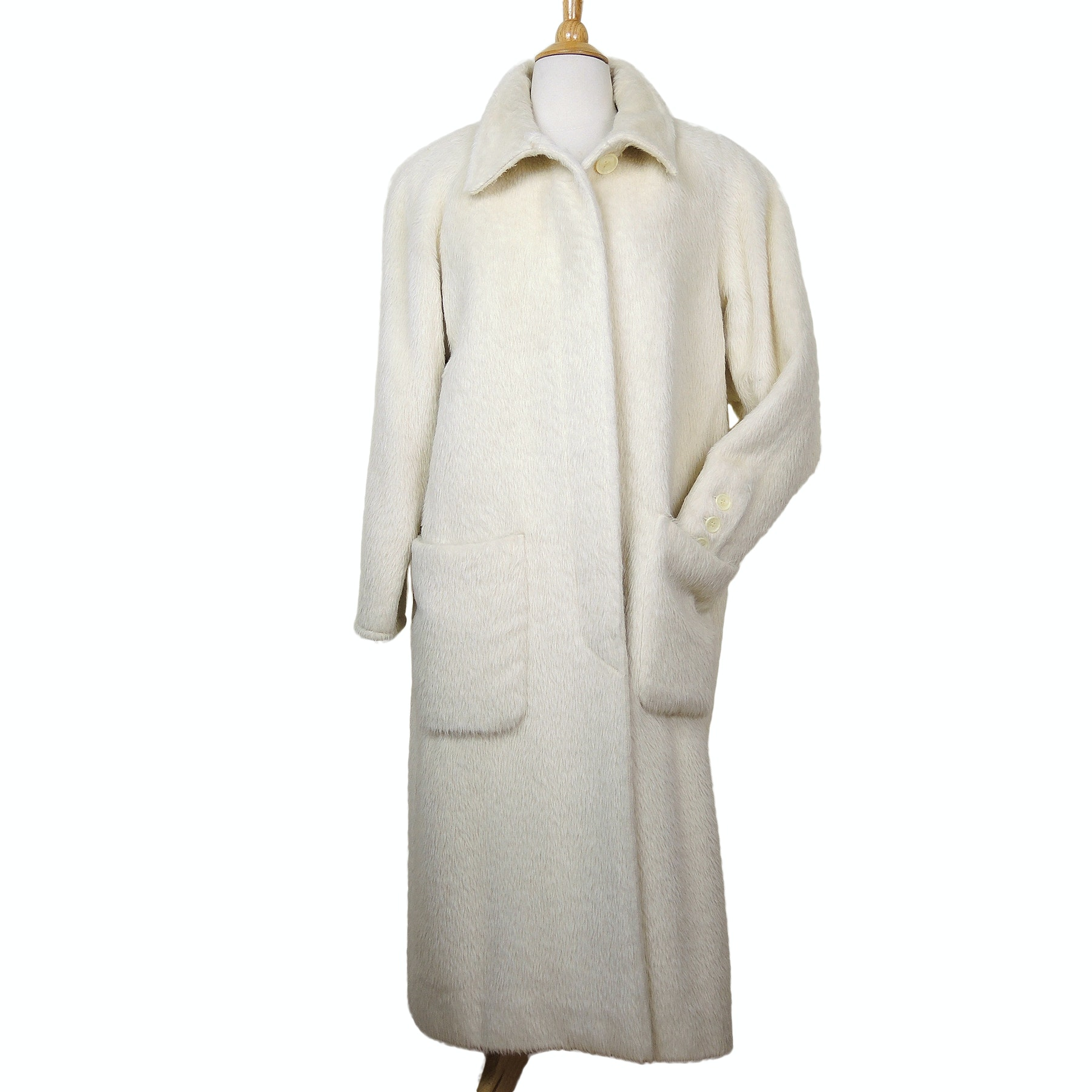 Women's Agnona Italian Alpaca Wool Blend Coat Made for Saks Fifth Avenue