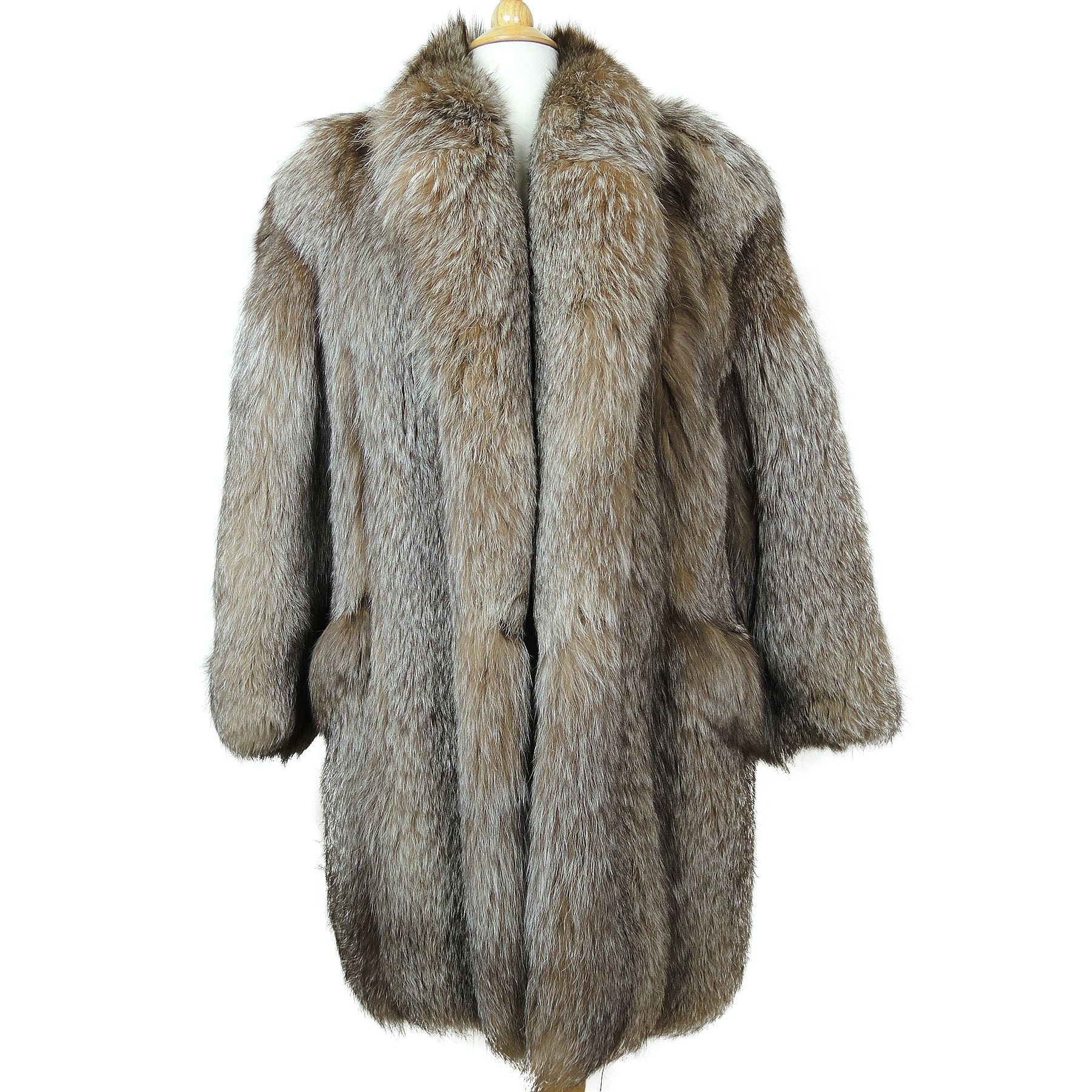 Kotsovos Crystal Fox Fur Coat
