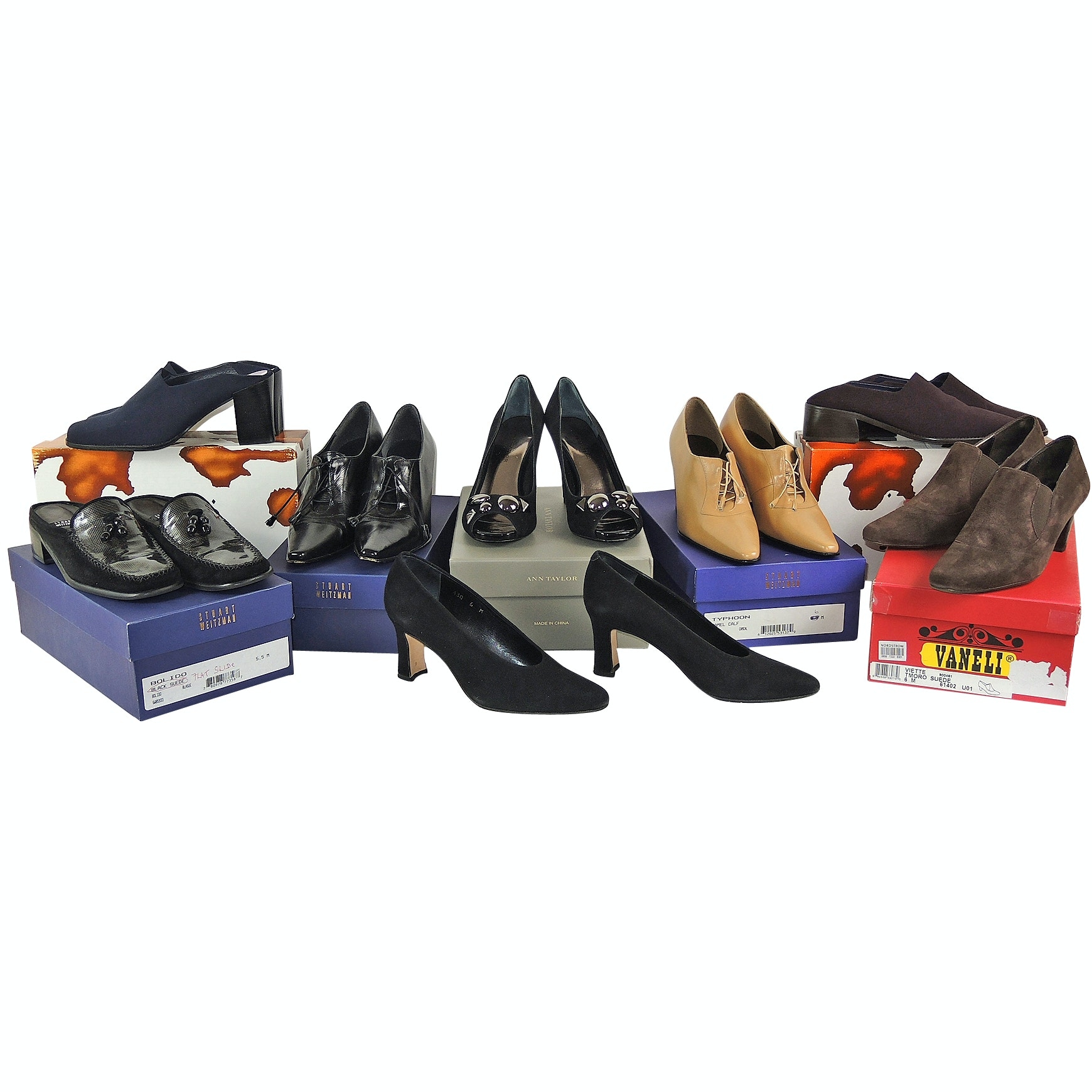 Collection of Women's Heels, Pumps and Slip-On Shoes Including Donald J Pliner
