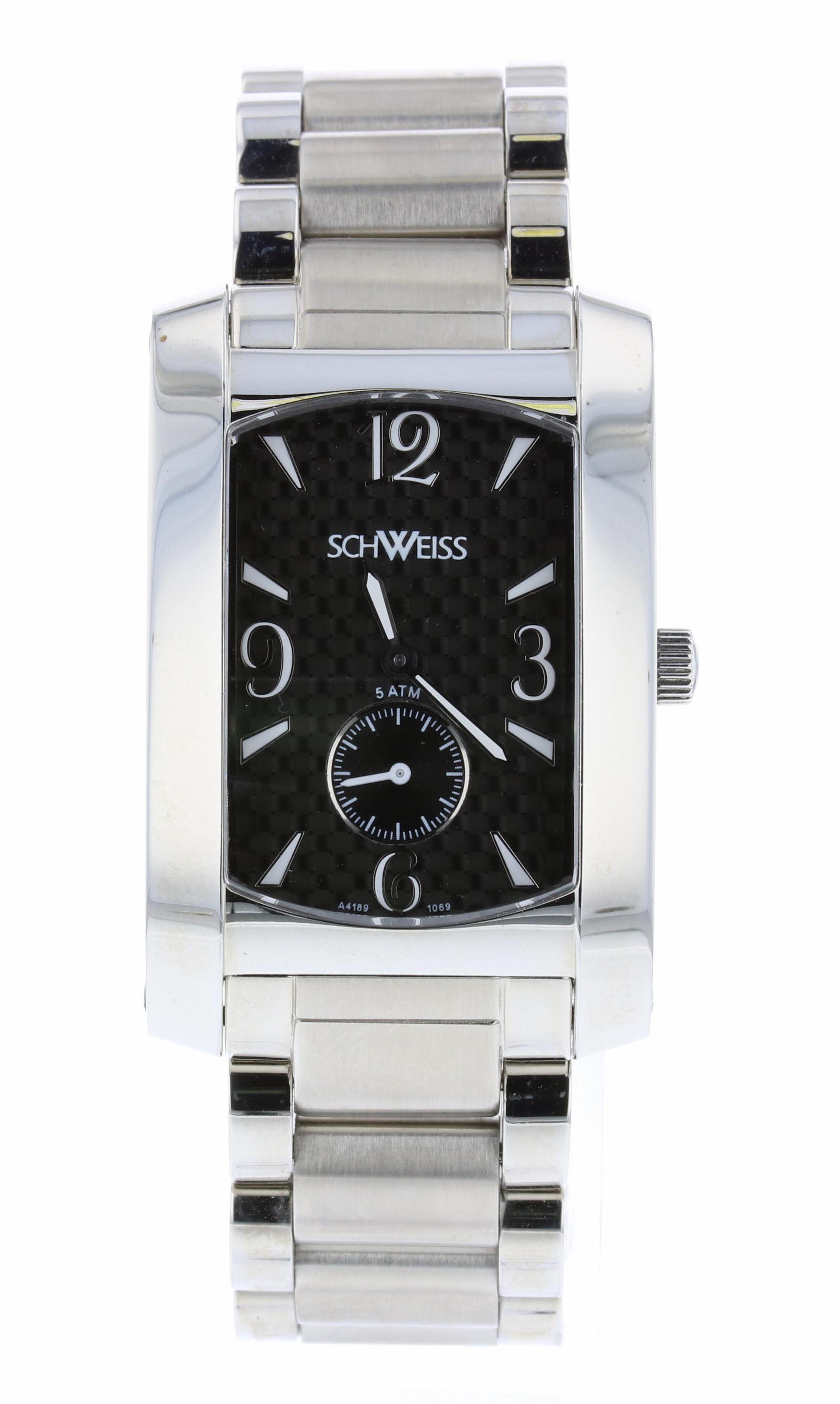 Schweiss Stainless Steel Oyster Wristwatch
