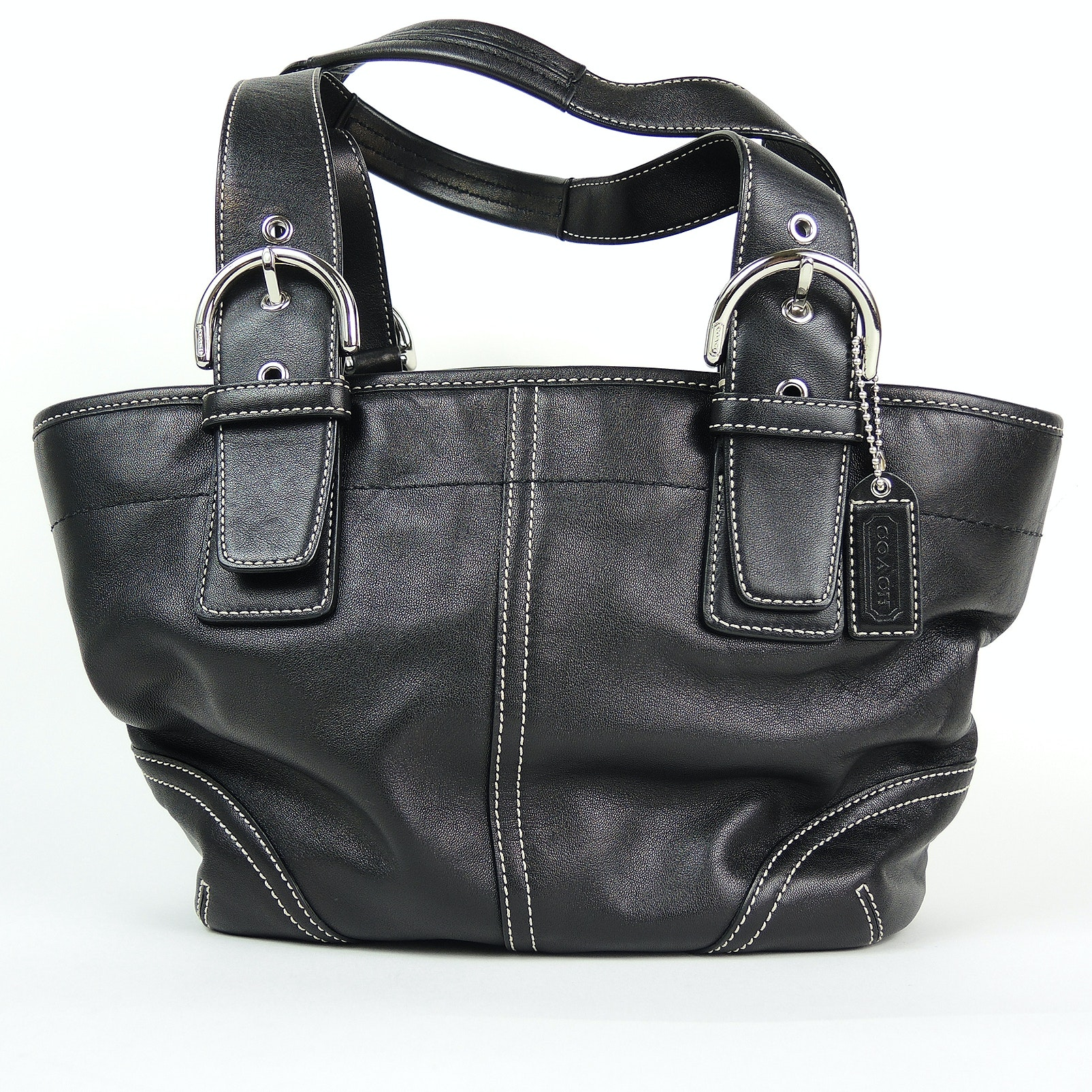 Coach Soho Black Leather Tote Bag
