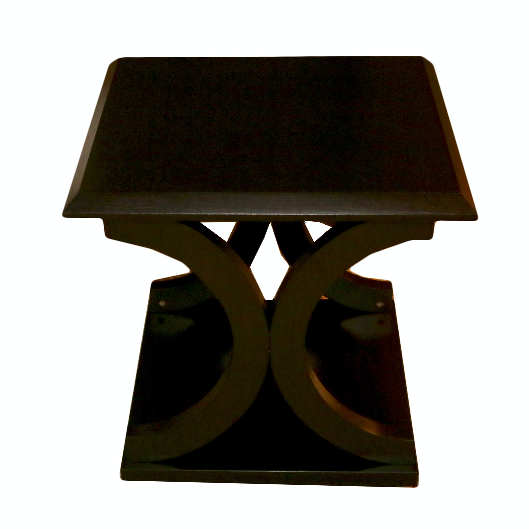 Deco Style Curved X Base End Table ...