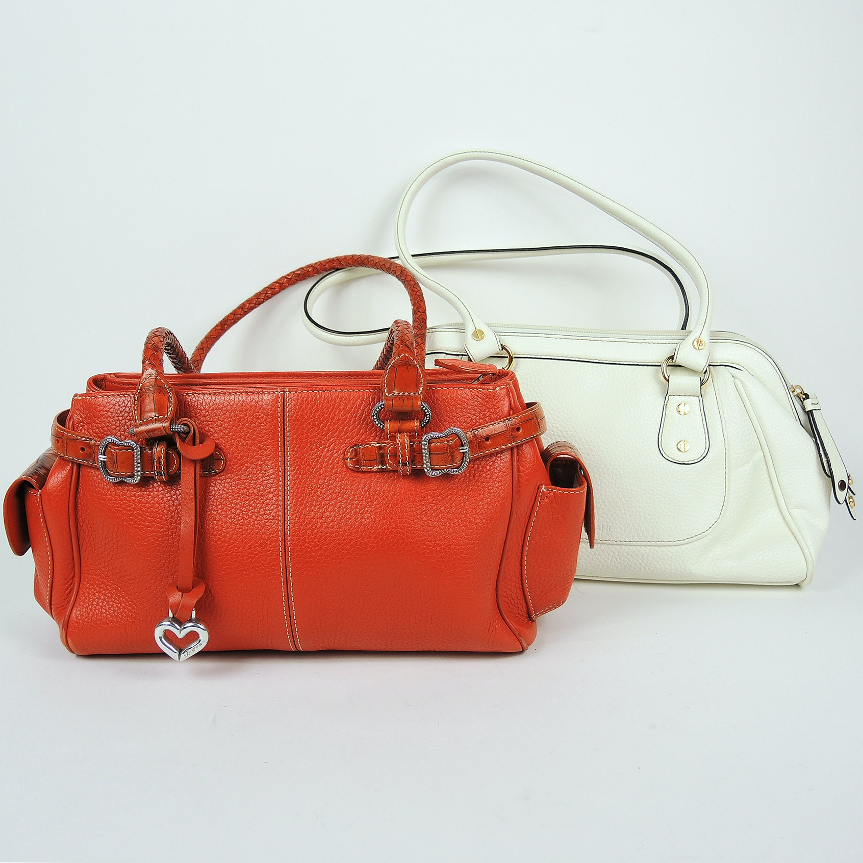 Isaac Mizrahi and Brighton Pebbled Leather Shoulder Bags