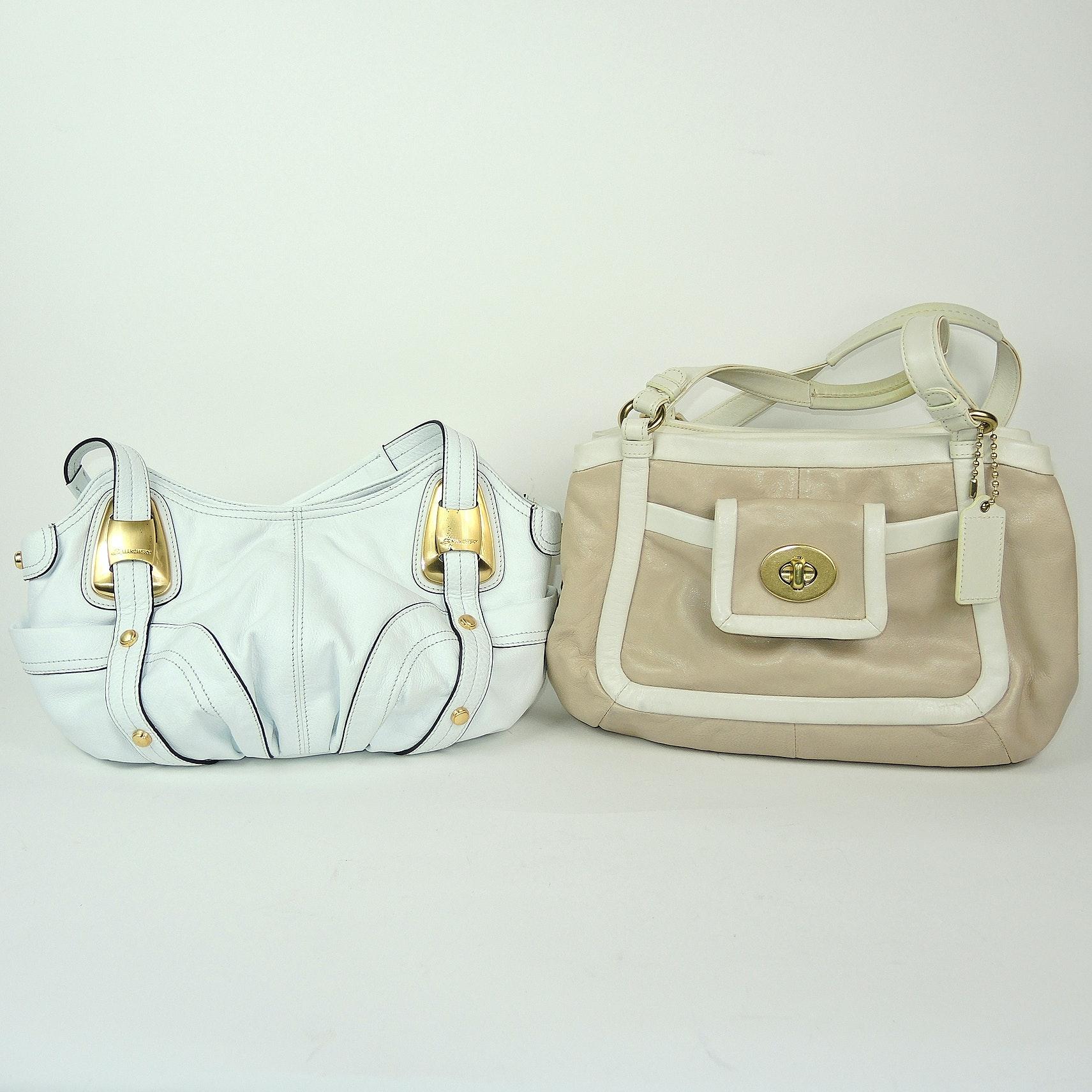 Coach Cricket Satchel and B. Makowsky White Leather Shoulder Bag