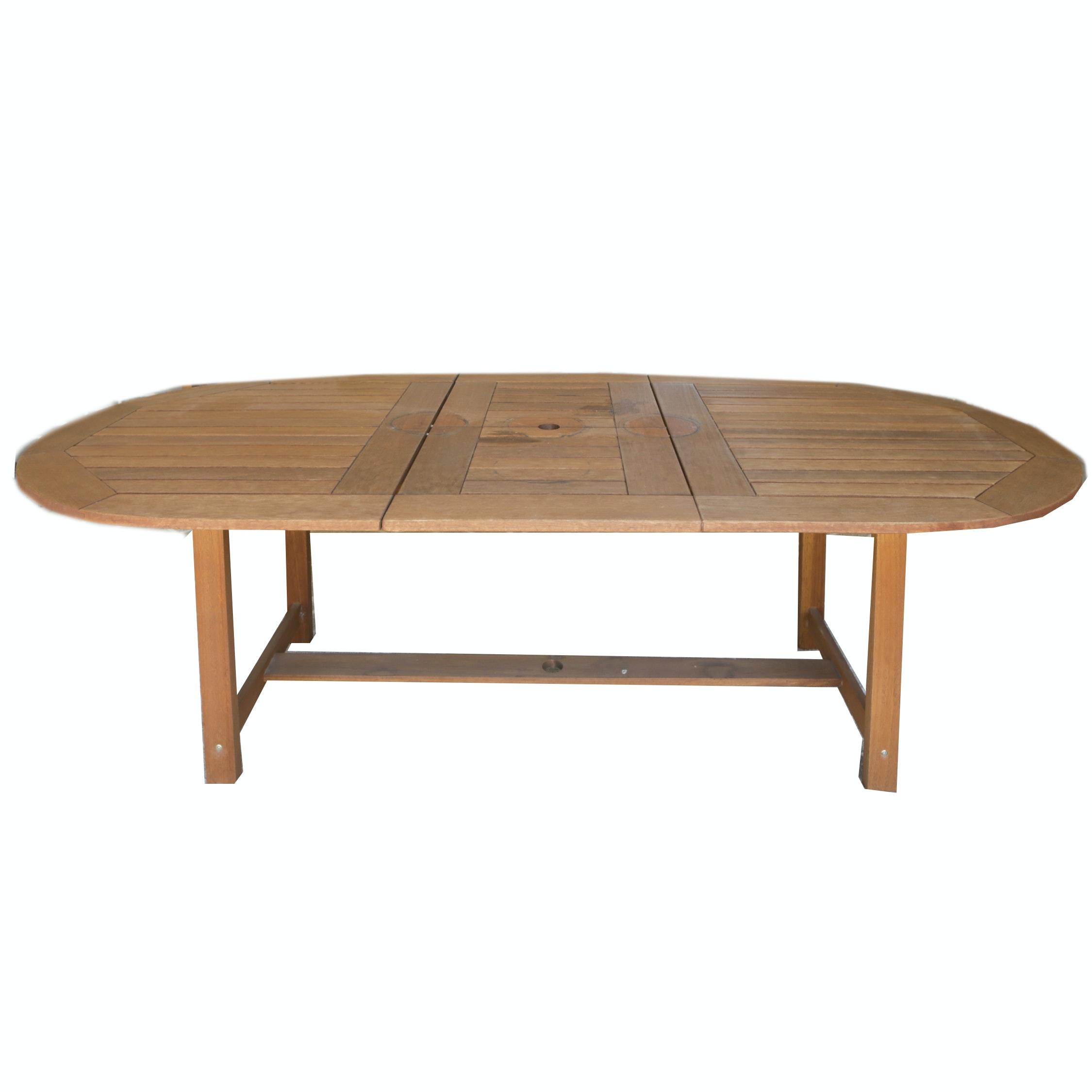 Oval Teakwood Patio Dining Table