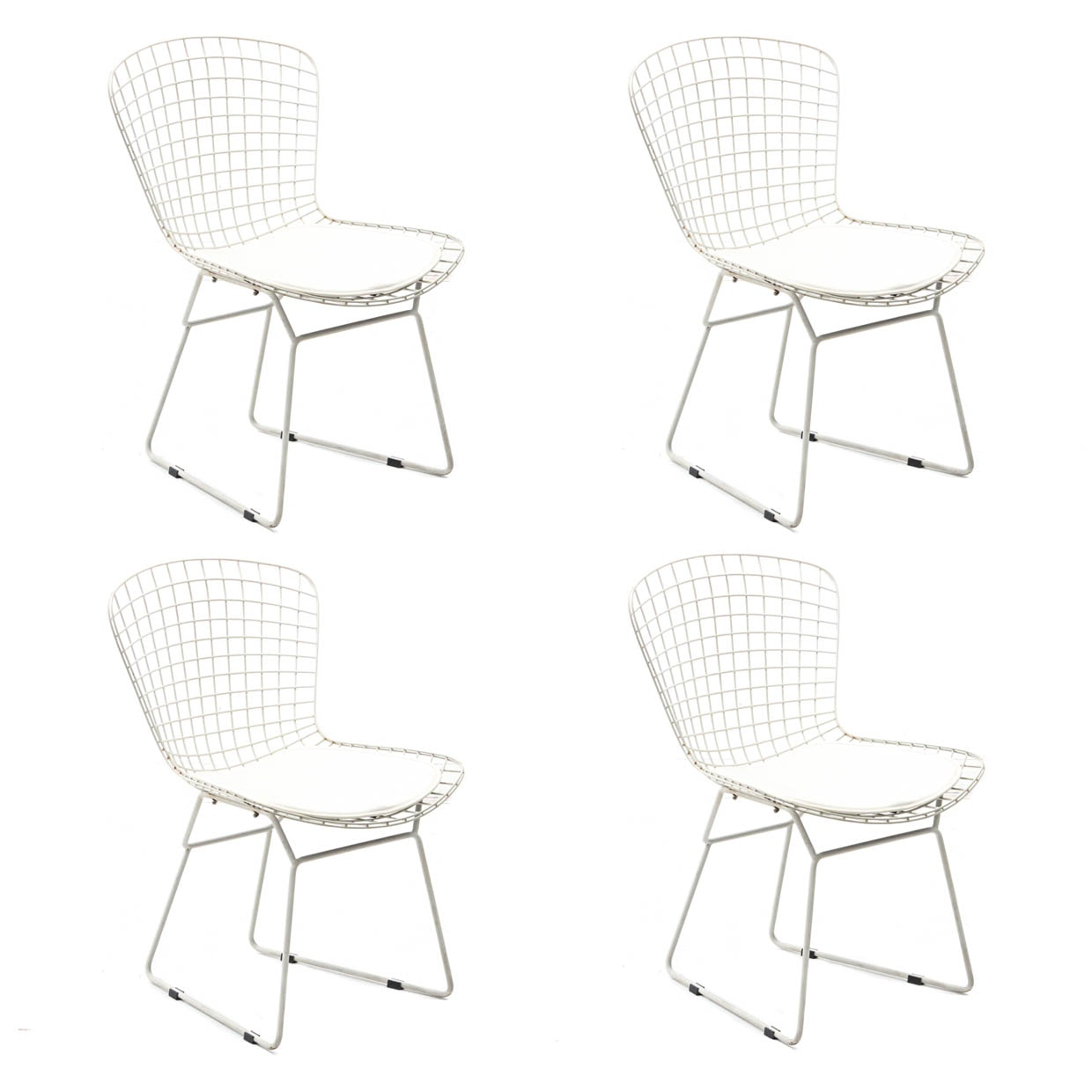 Four Mid Century Modern Wire Side Chairs In The Style Of Harry Bertoia ...