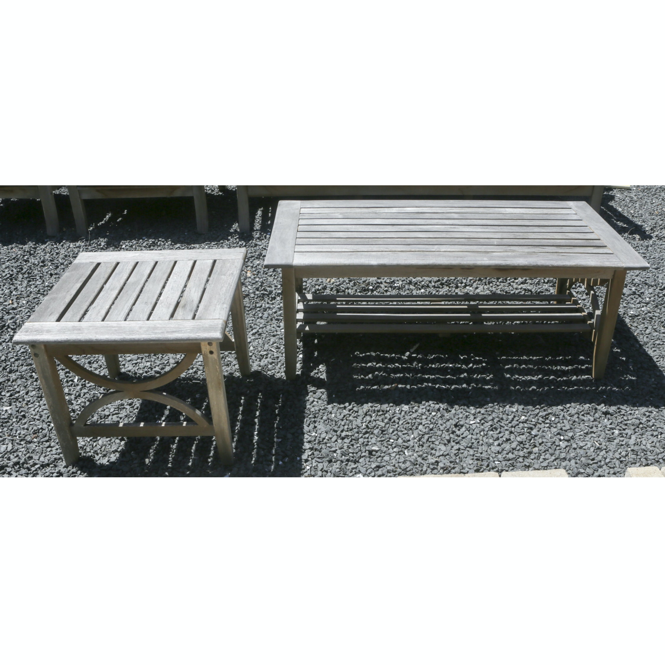 Wooden Patio Furniture Coffee Table and Side Table