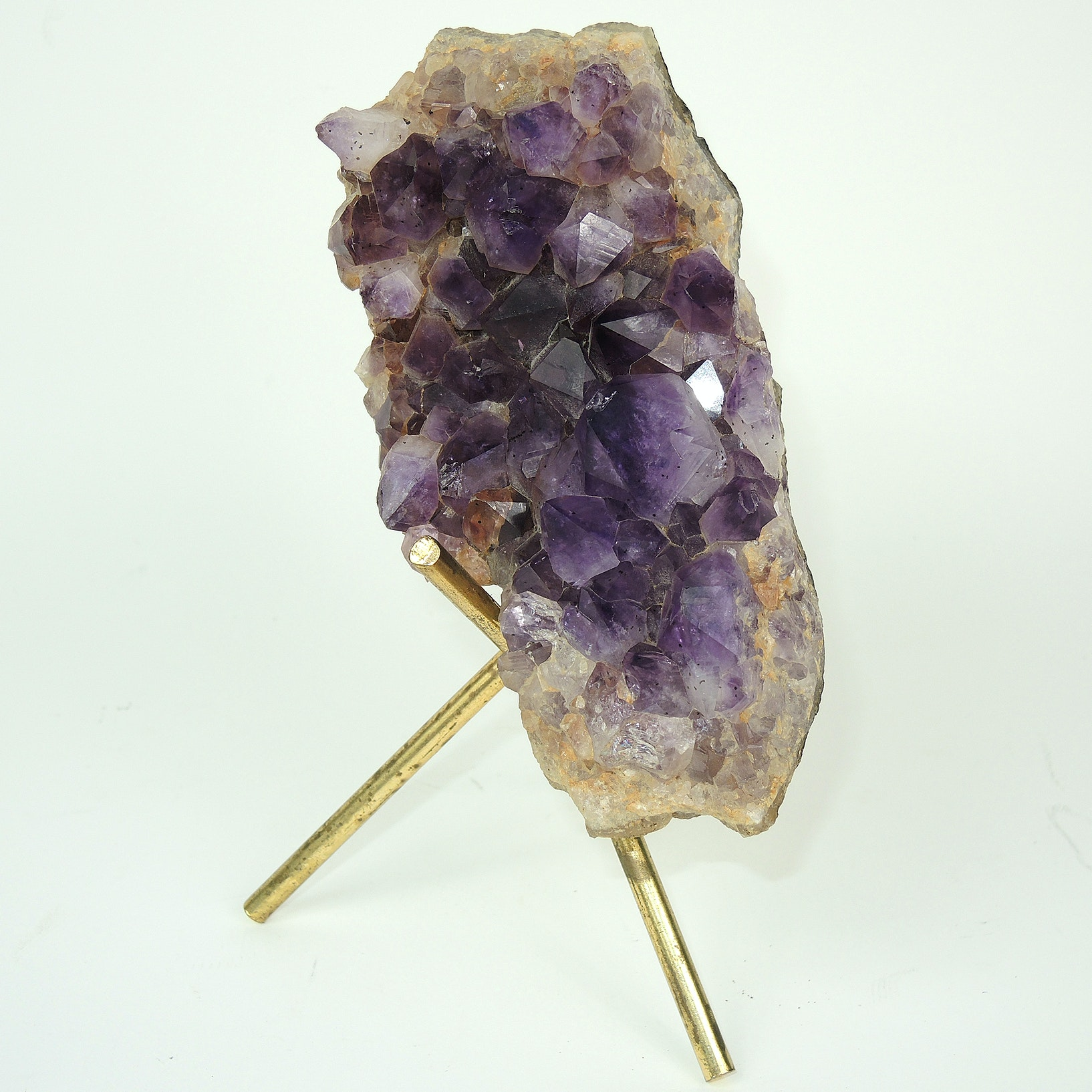Amethyst Geode Sample With Stand