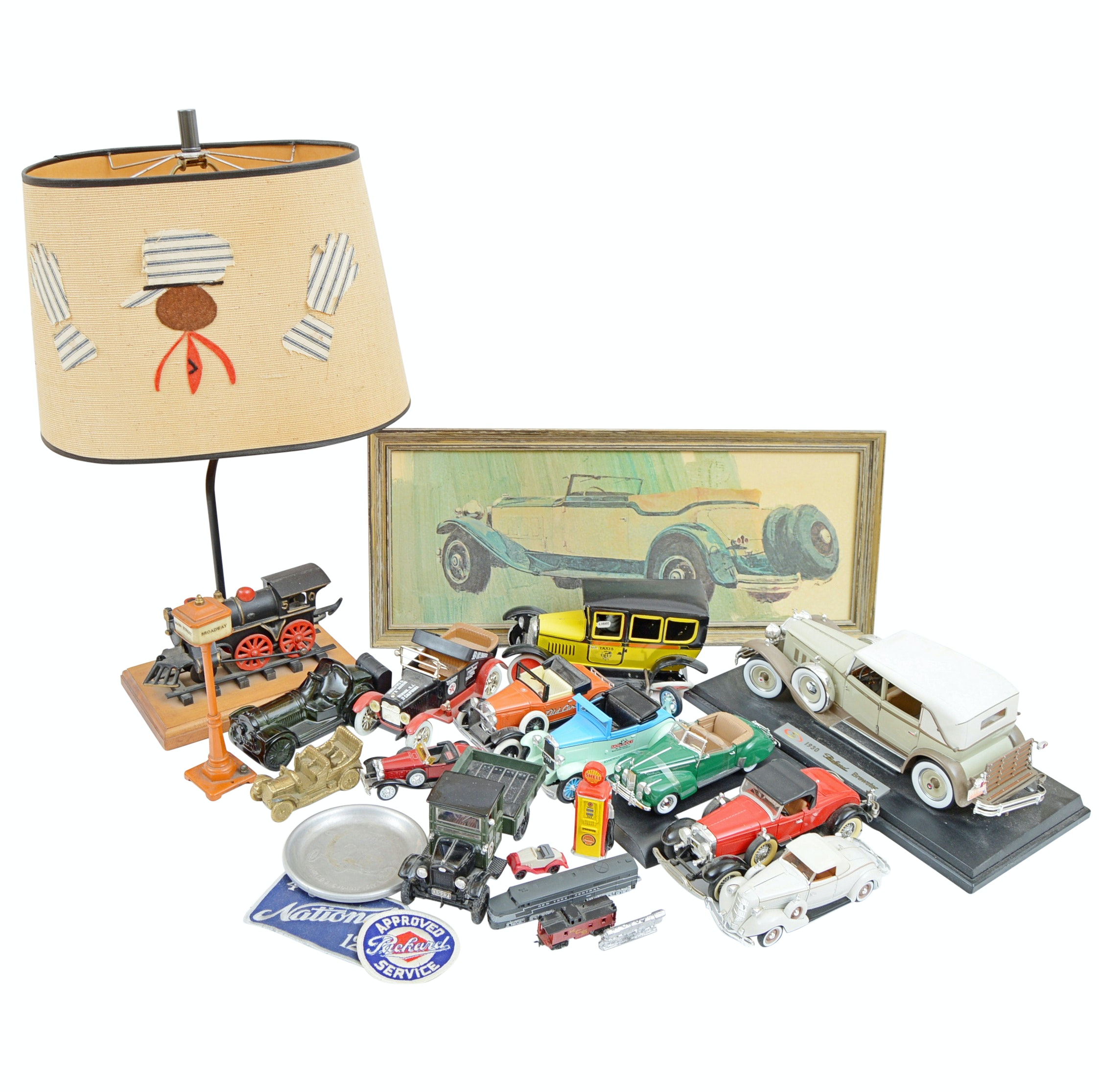 Model Cars and Trains with Train Lamp