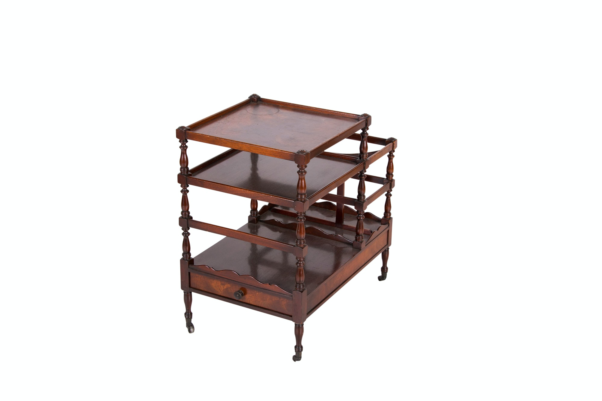 Regency Style Mahogany Canterbury by Beacon Hill Collection, 20th Century