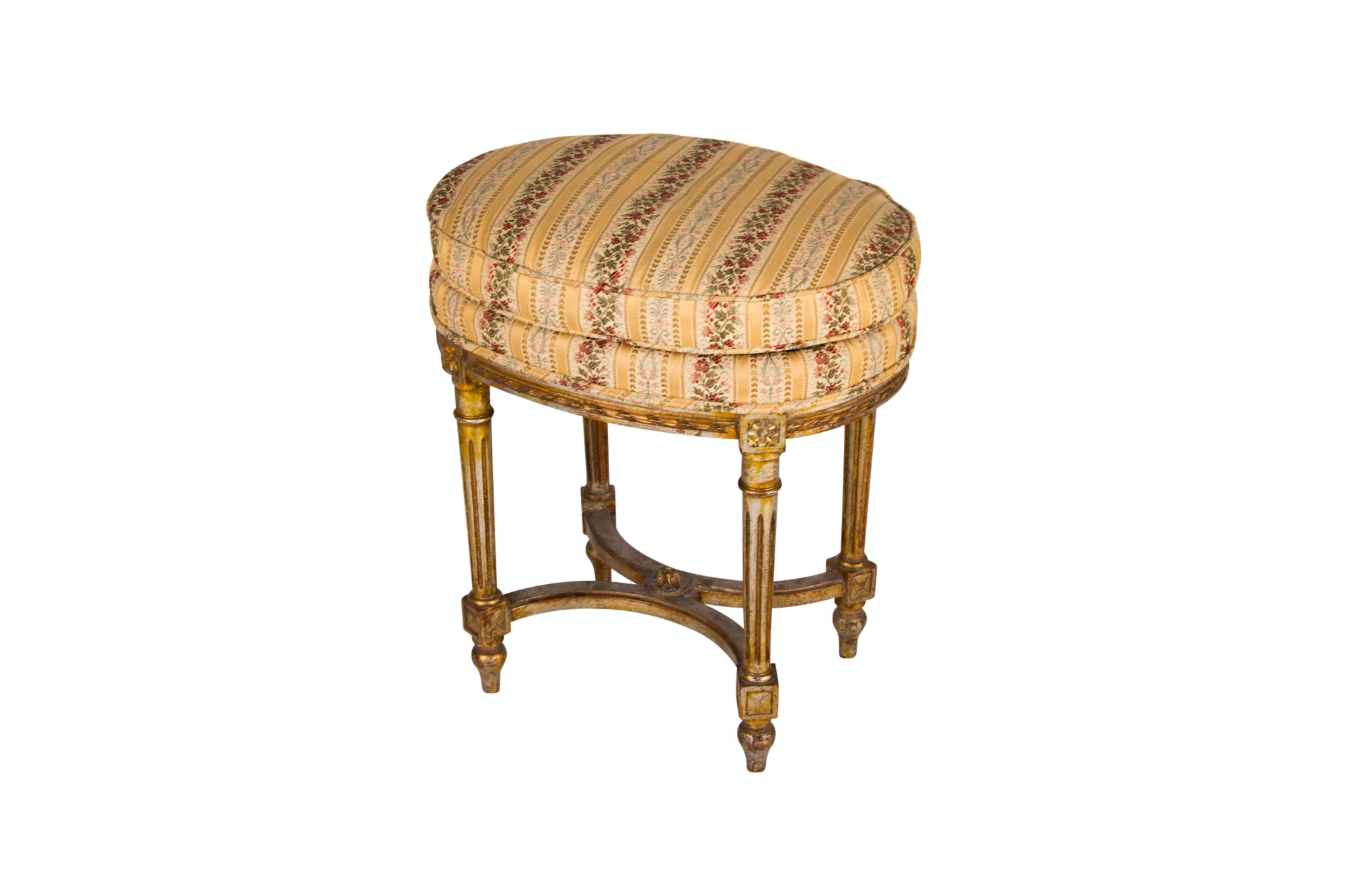 Louis XVI Style Giltwood Stool by Loehr Decorators, Early 20th Century