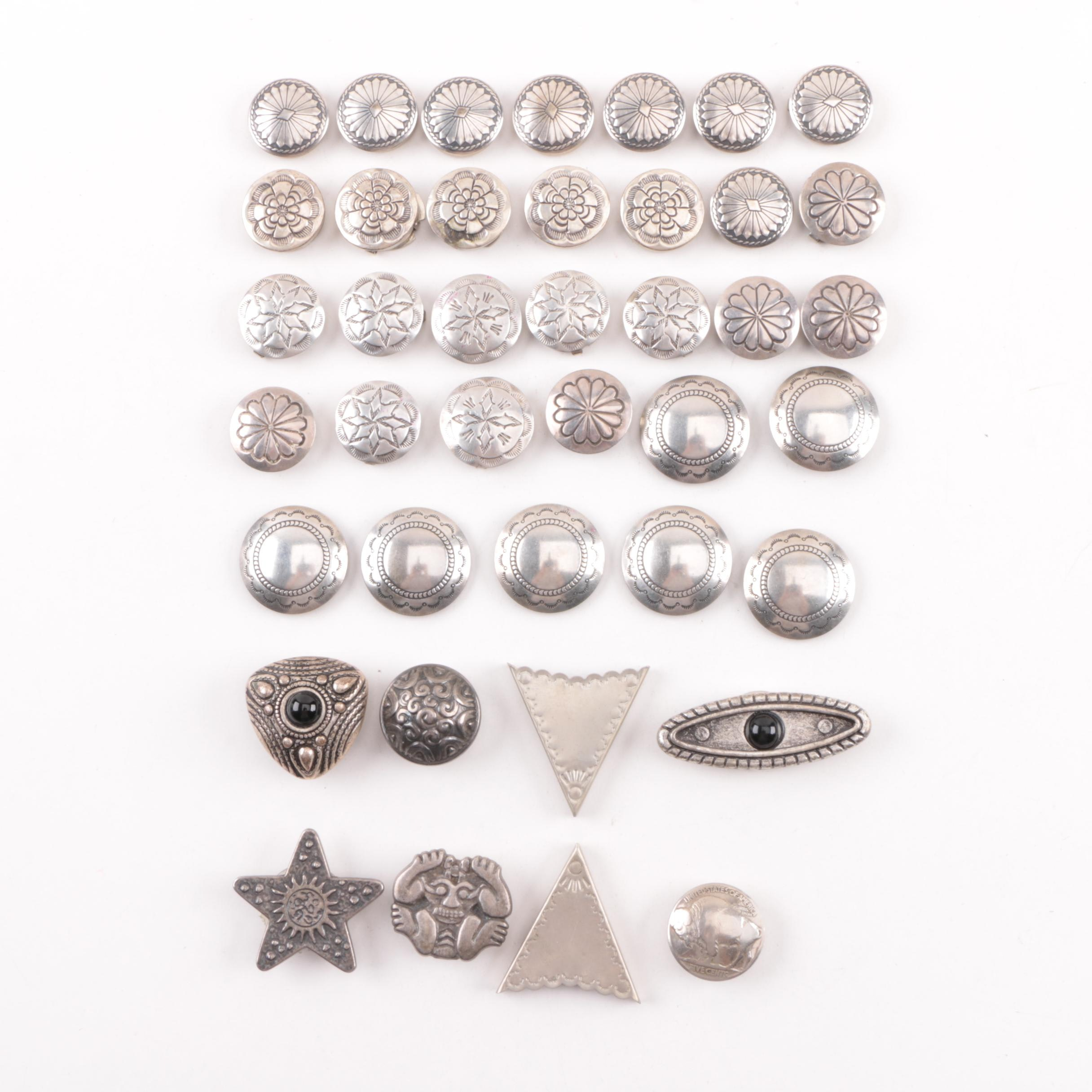 Sterling Silver Buttons Covers and Other