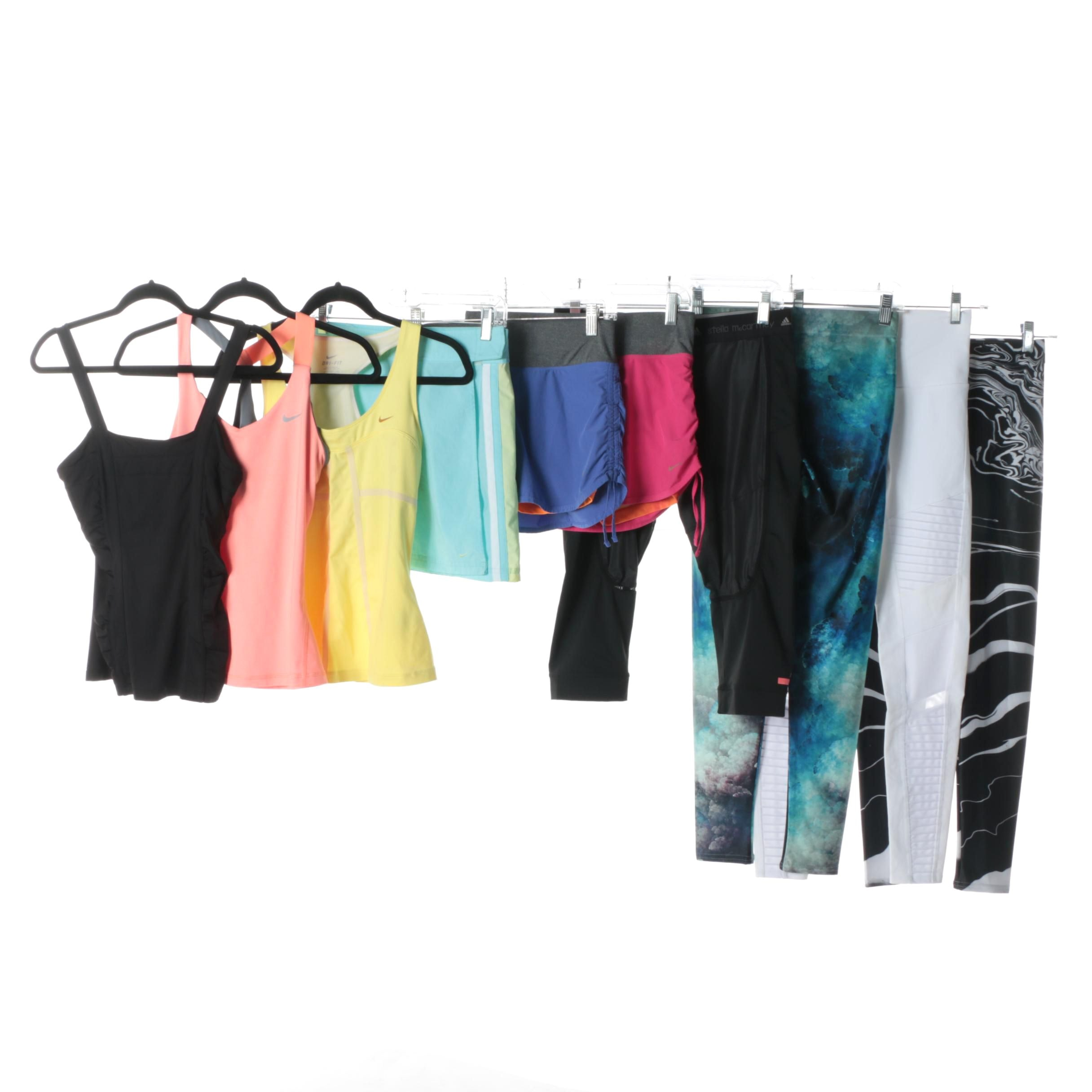 Women's Activewear Including Nike and Stella McCartney for Adidas