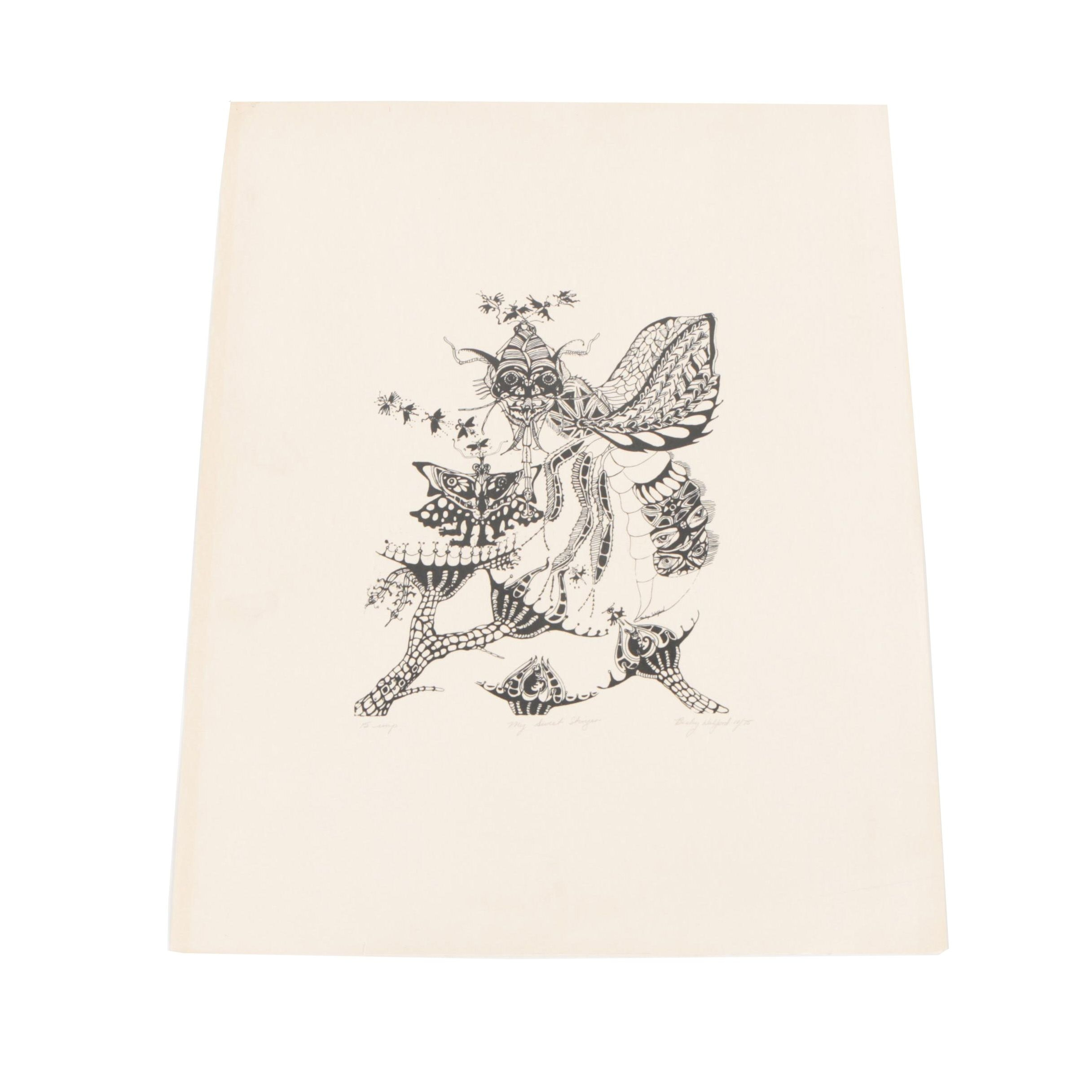 """Becky Wolford Lithograph """"My Sweet Stinger"""""""
