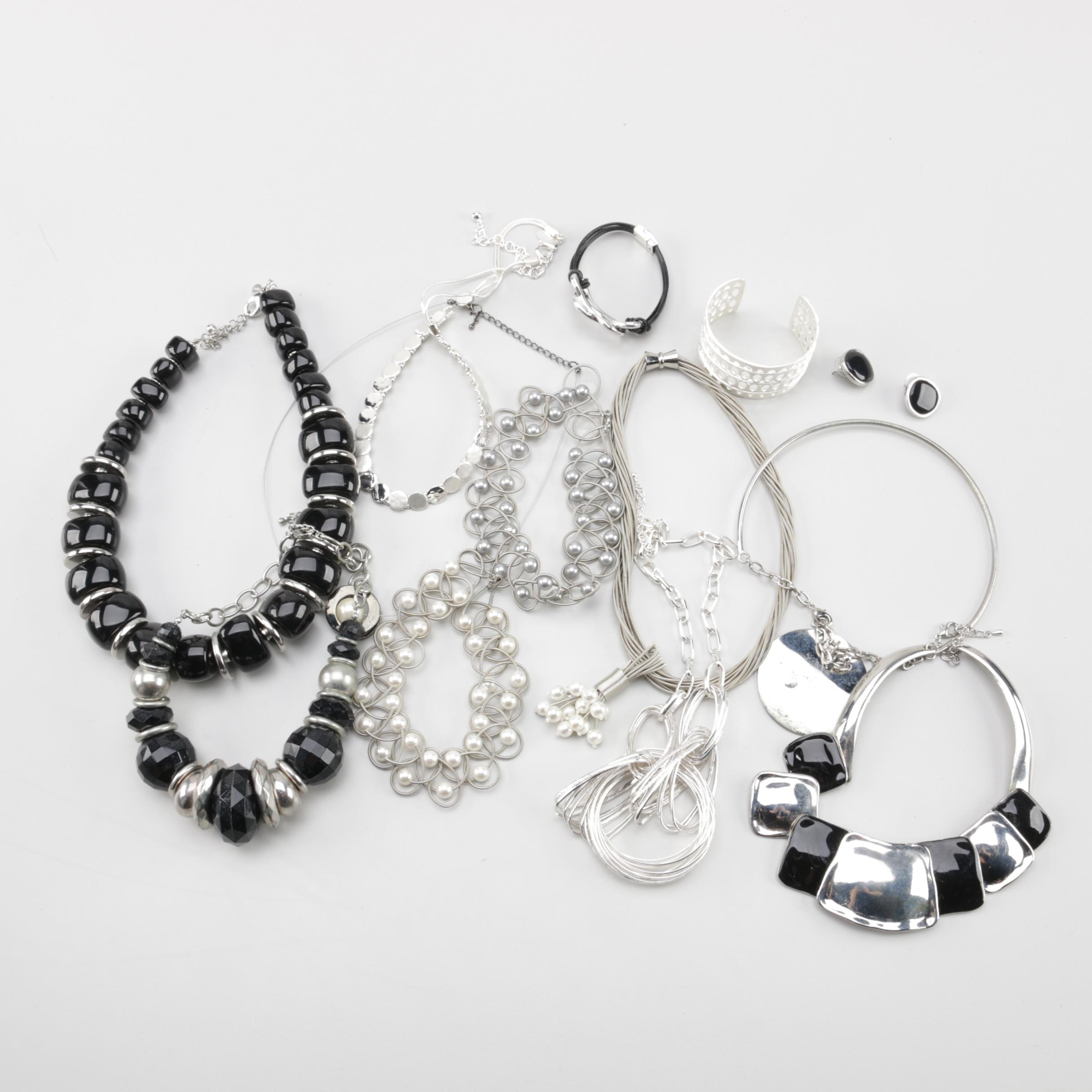 Jewelry Assortment Including Chico's, Stella and Dot, and Imitation Pearl