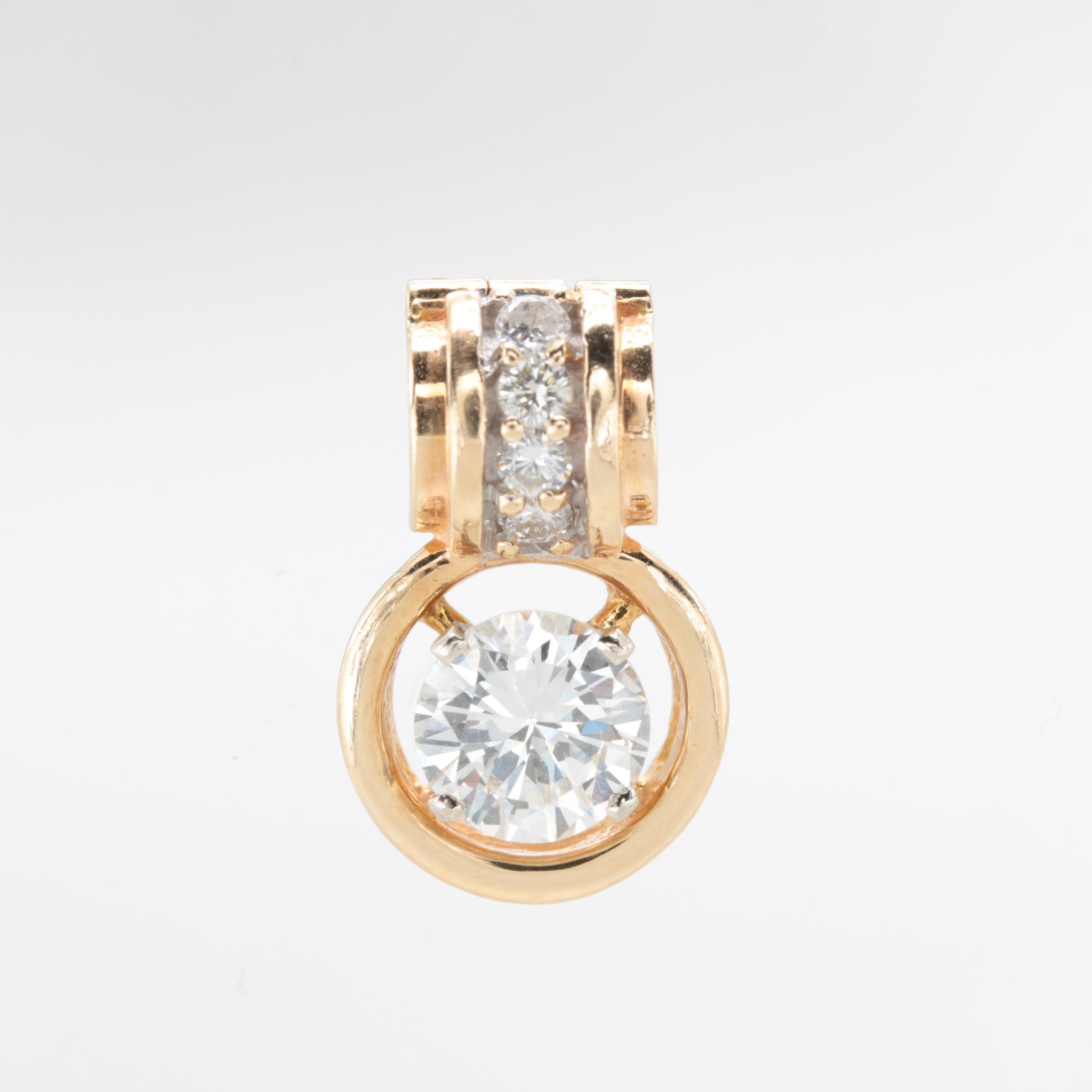 14K Yellow Gold 1.19 CTW Diamond Enhancer