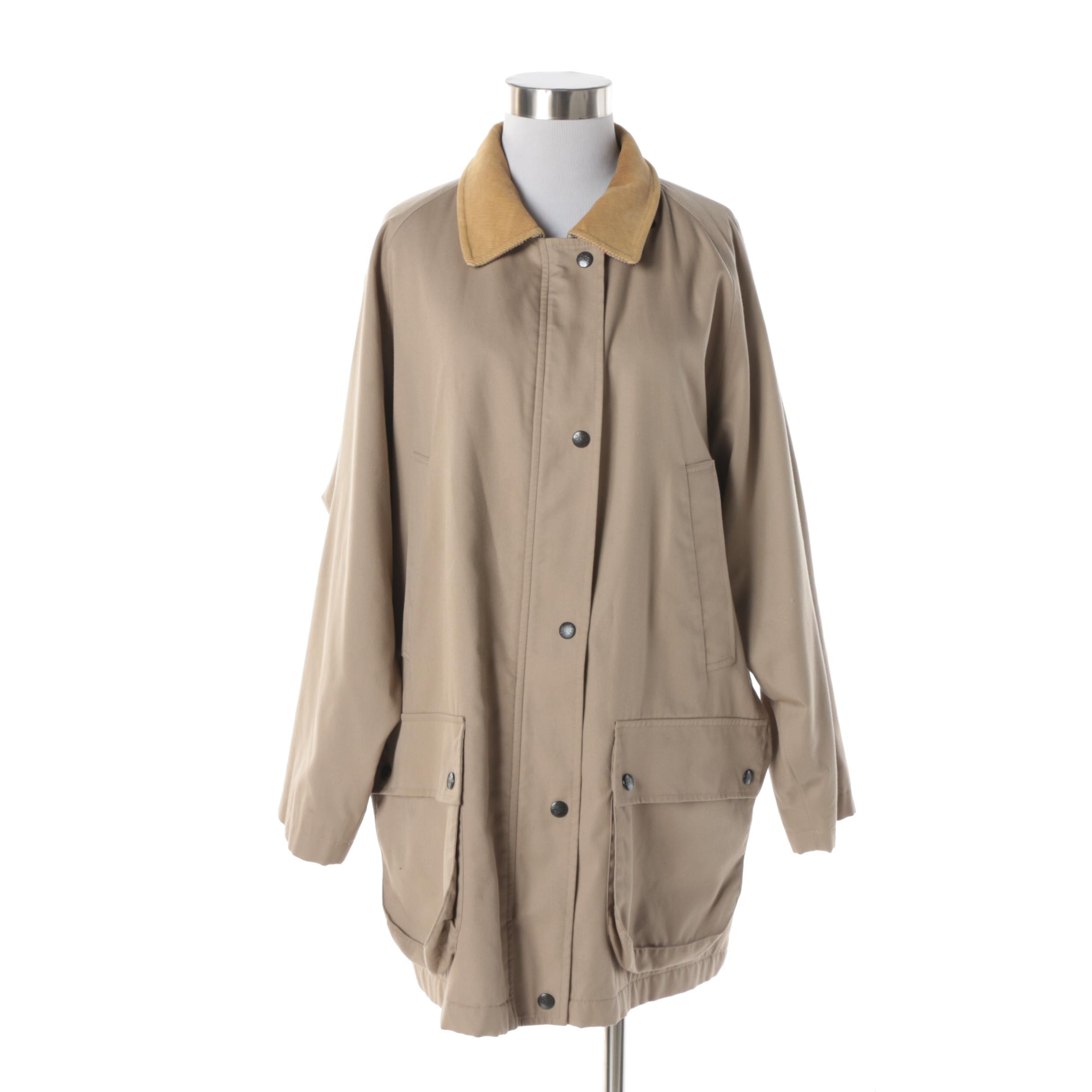 Women's Burberry Khaki Jacket with Removable Wool Lining