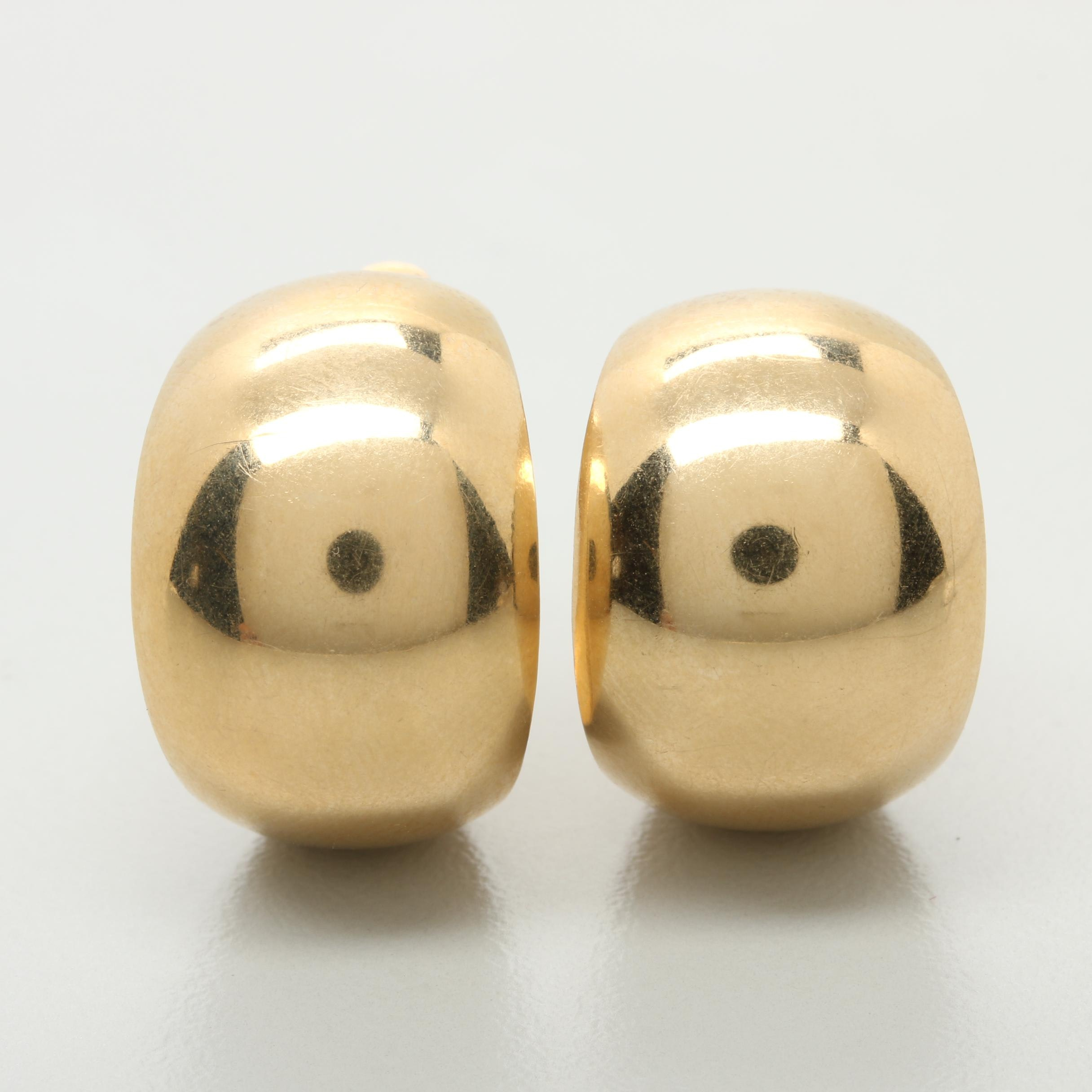 14K Yellow Gold C-Hoop Earring Jackets
