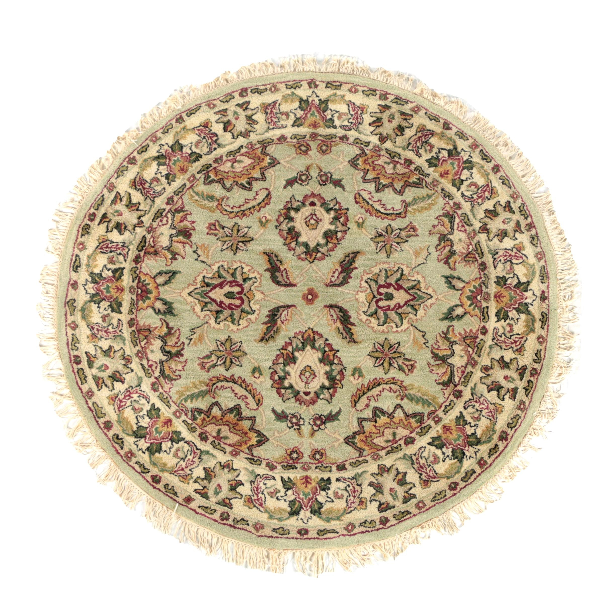 Tufted Persian Style Round Wool Area Rug