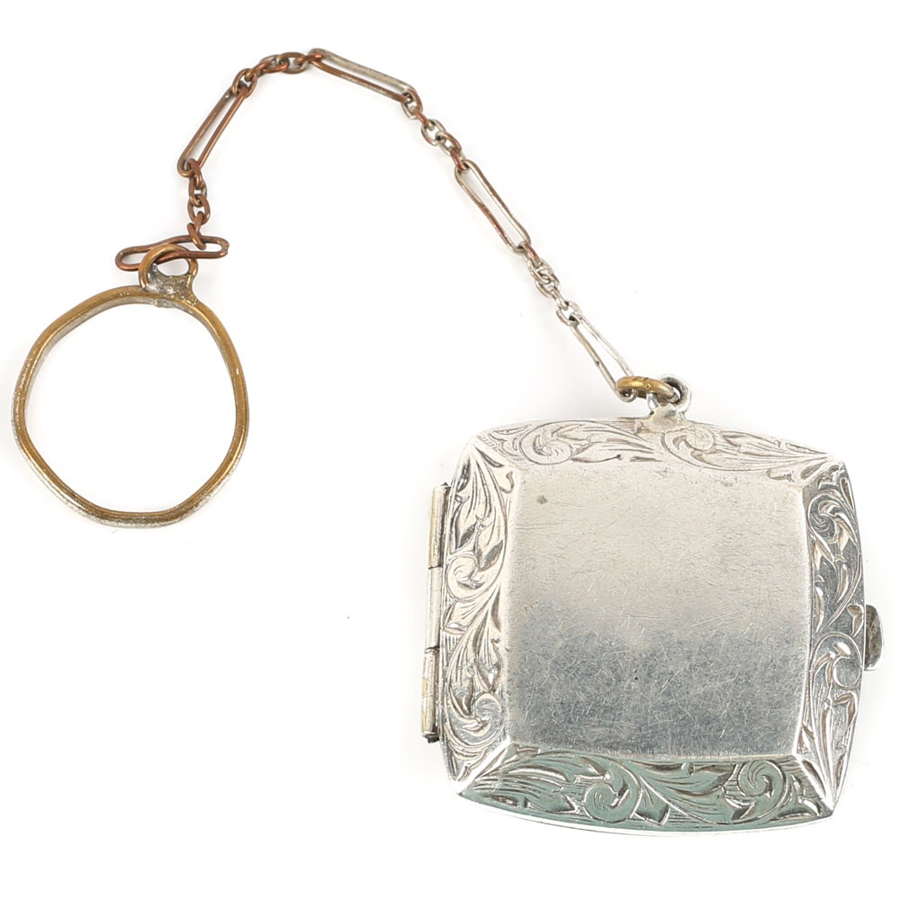 Coro Vintage Coin Holder With Chain Fob