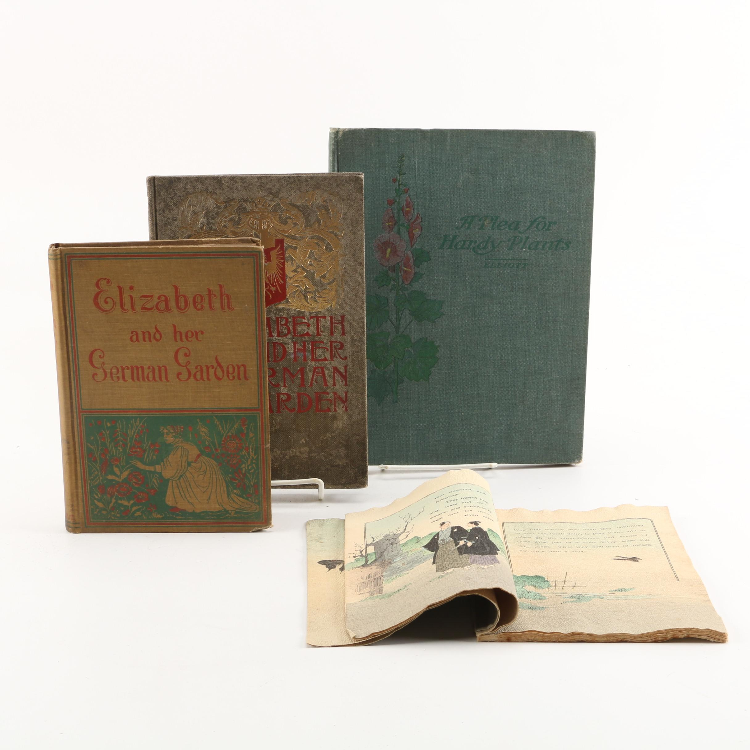 "Antique Books including ""The Flowers of Remembrance and Forgetfulness"""