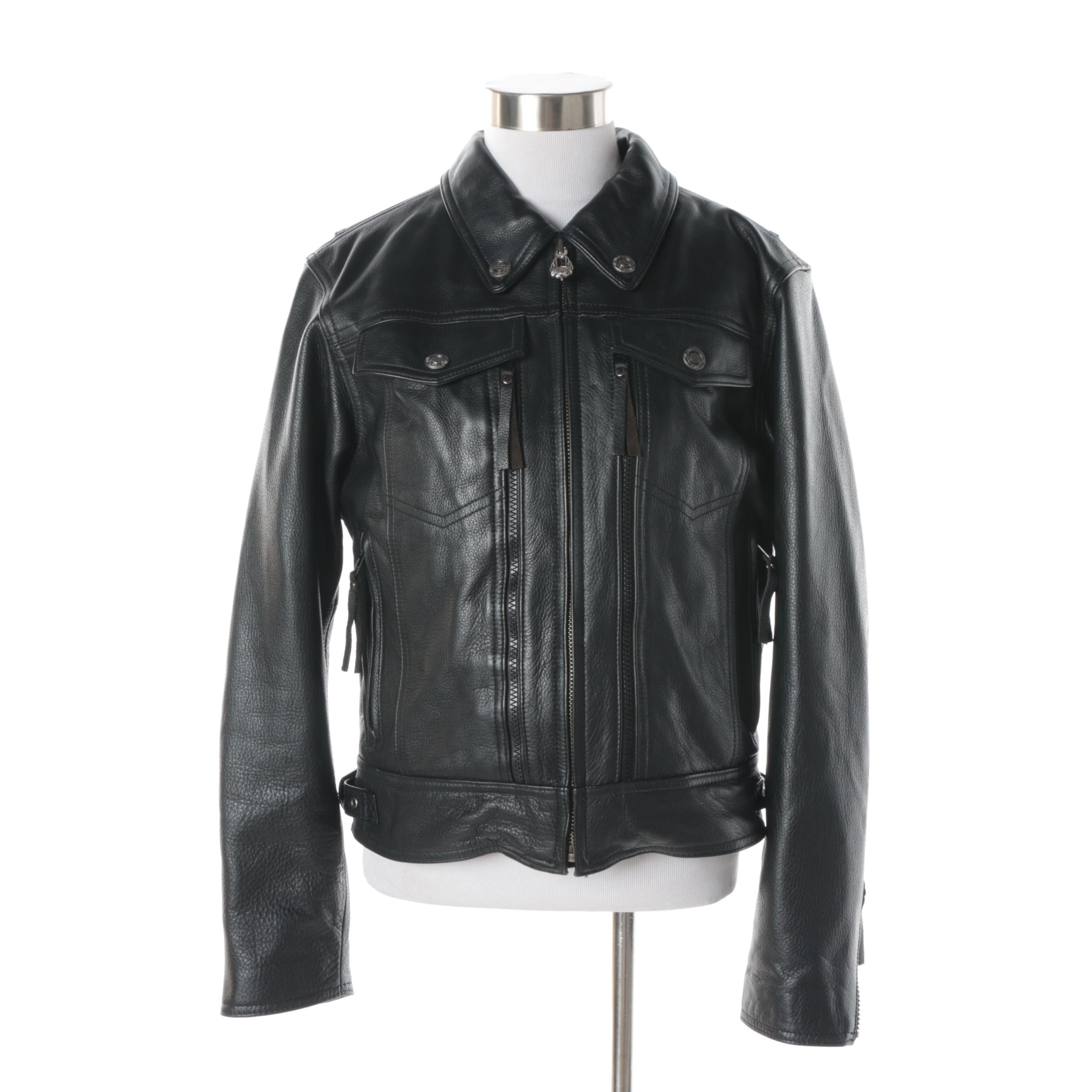 Women's Harley-Davidson Black Leather Motorcycle Jacket