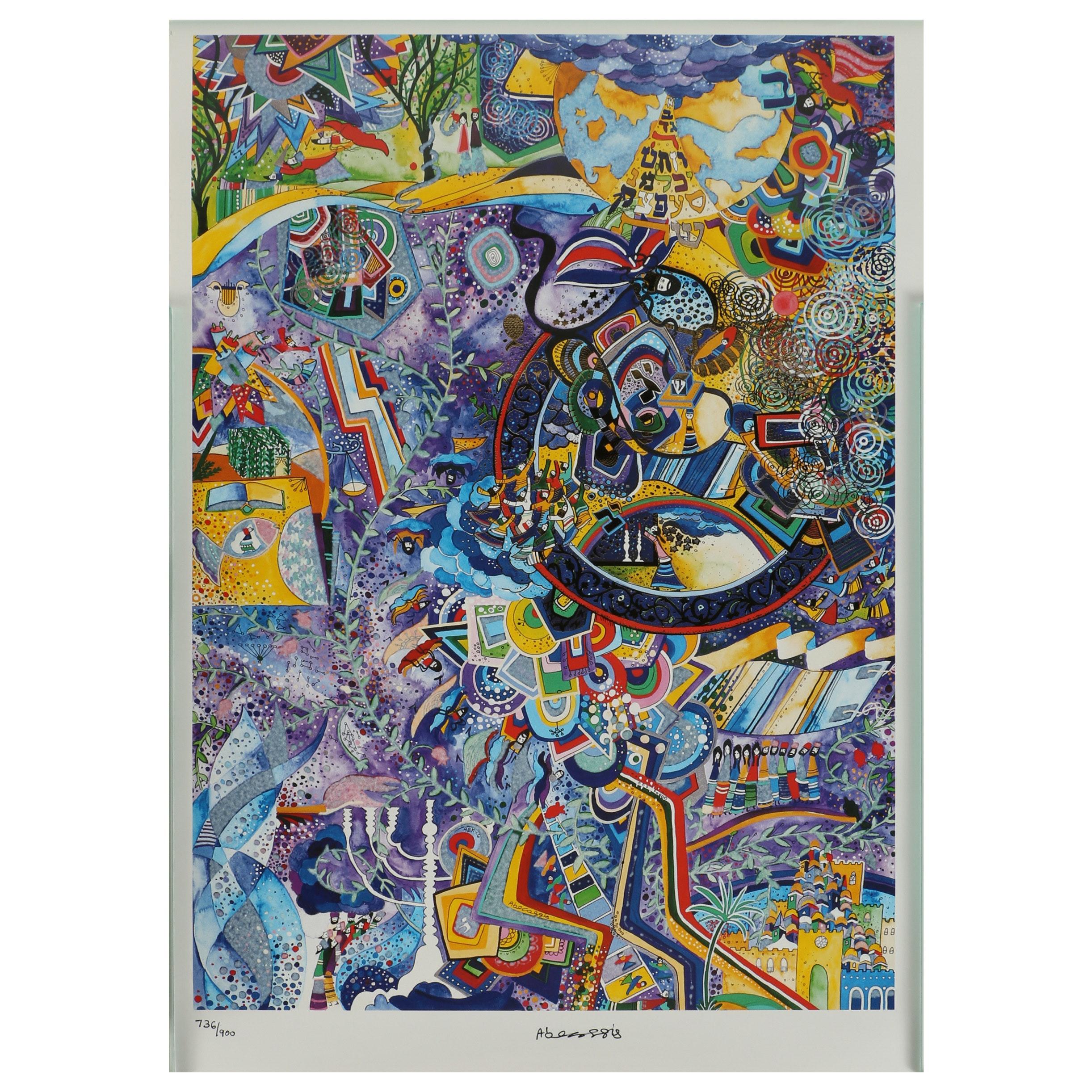 "Raphael Abecassis Offset Lithograph ""Celebrations"""