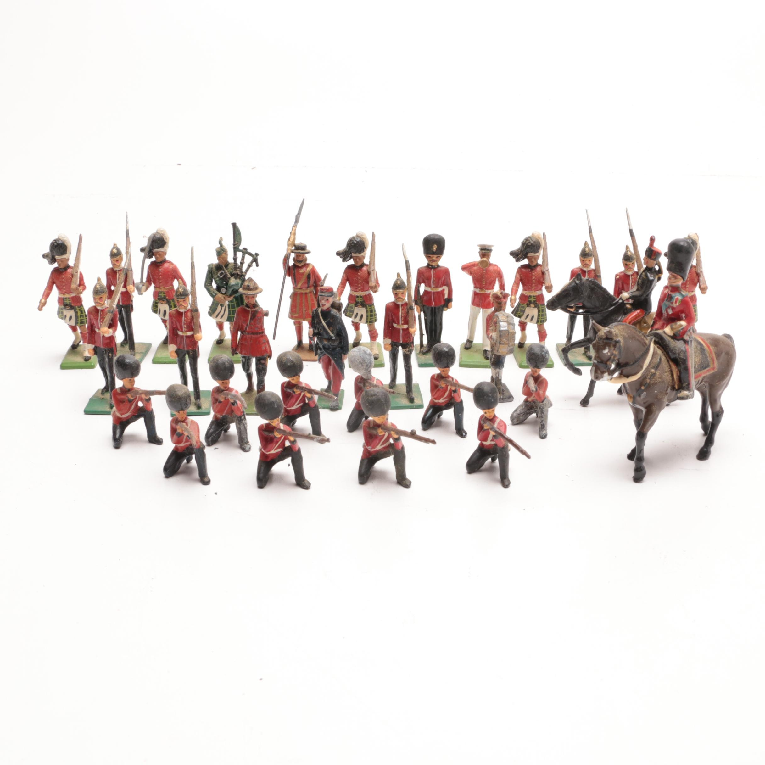 Assorted Vintage Toy Lead Soldiers