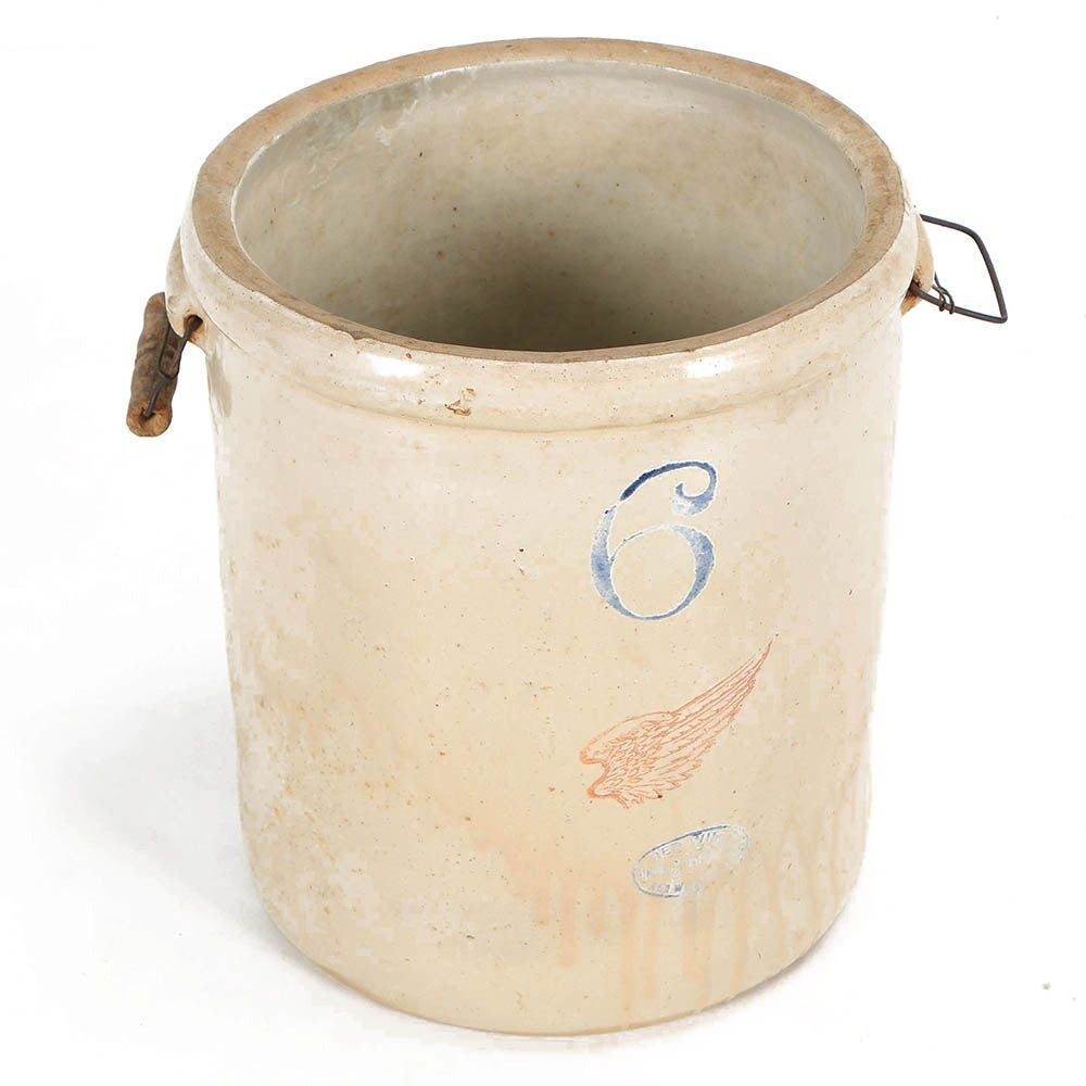 Vintage Red Wing Six-Gallon Stoneware Crock