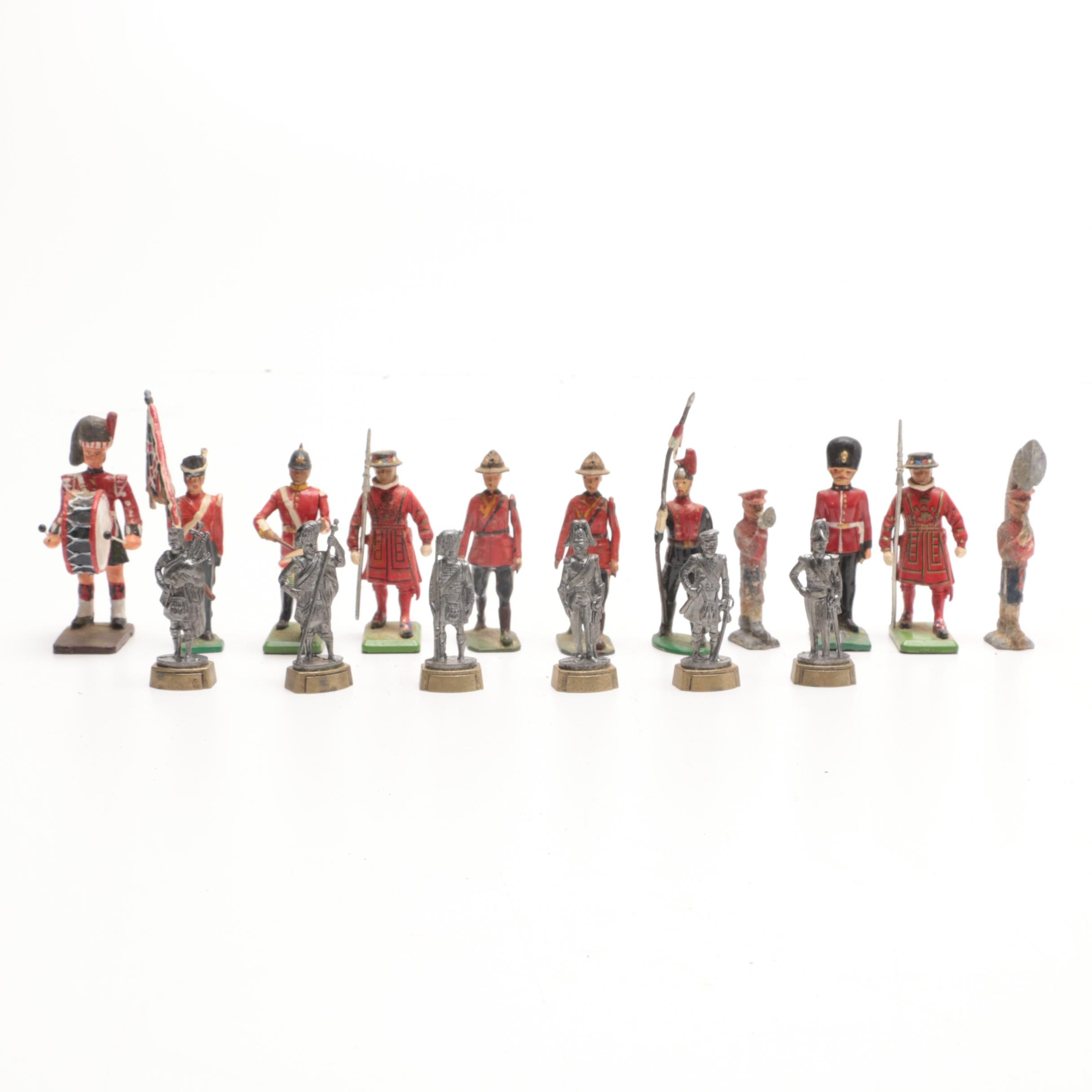 Vintage English and Contemporary Scottish Toy Lead Soldiers