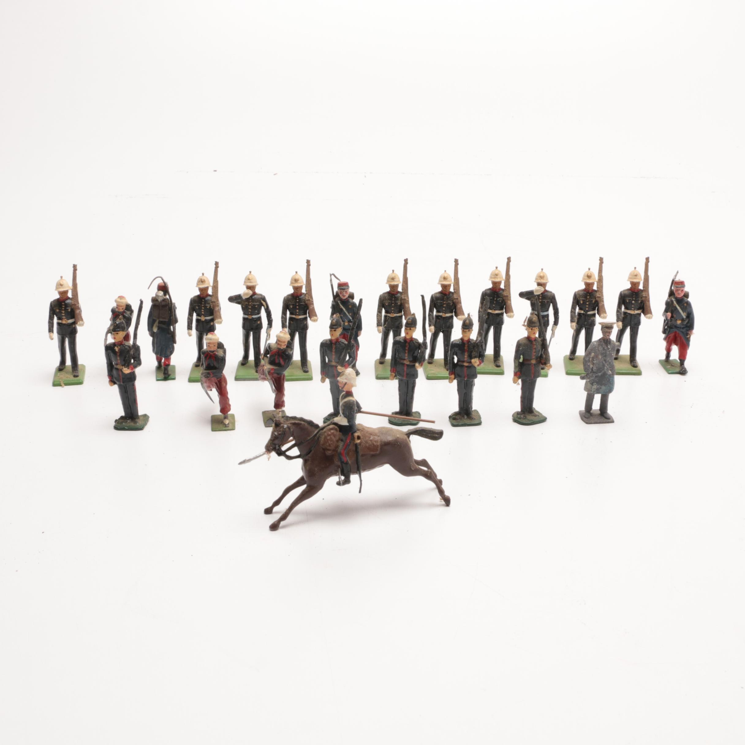 Assortment of Vintage Toy Lead Soldiers