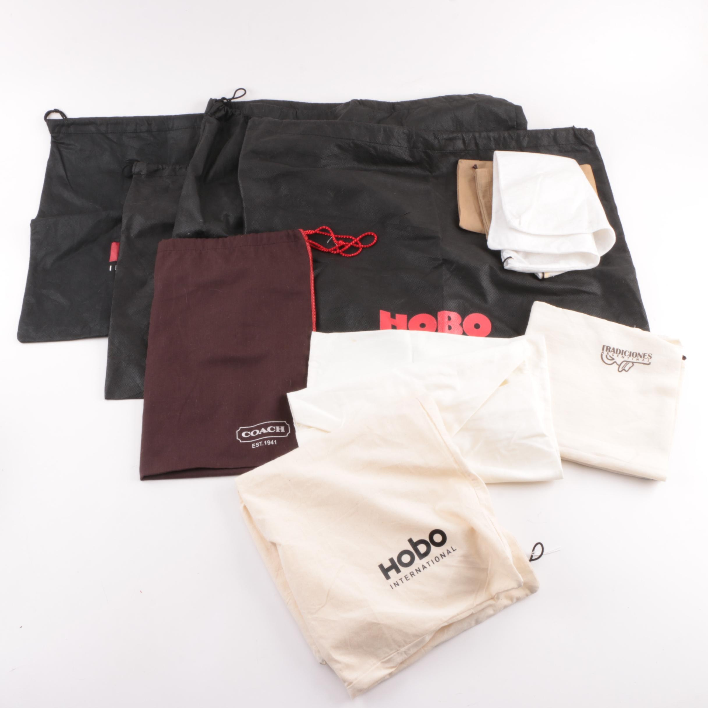 Designer Drawstring Dust Covers Including Hobo International and Coach