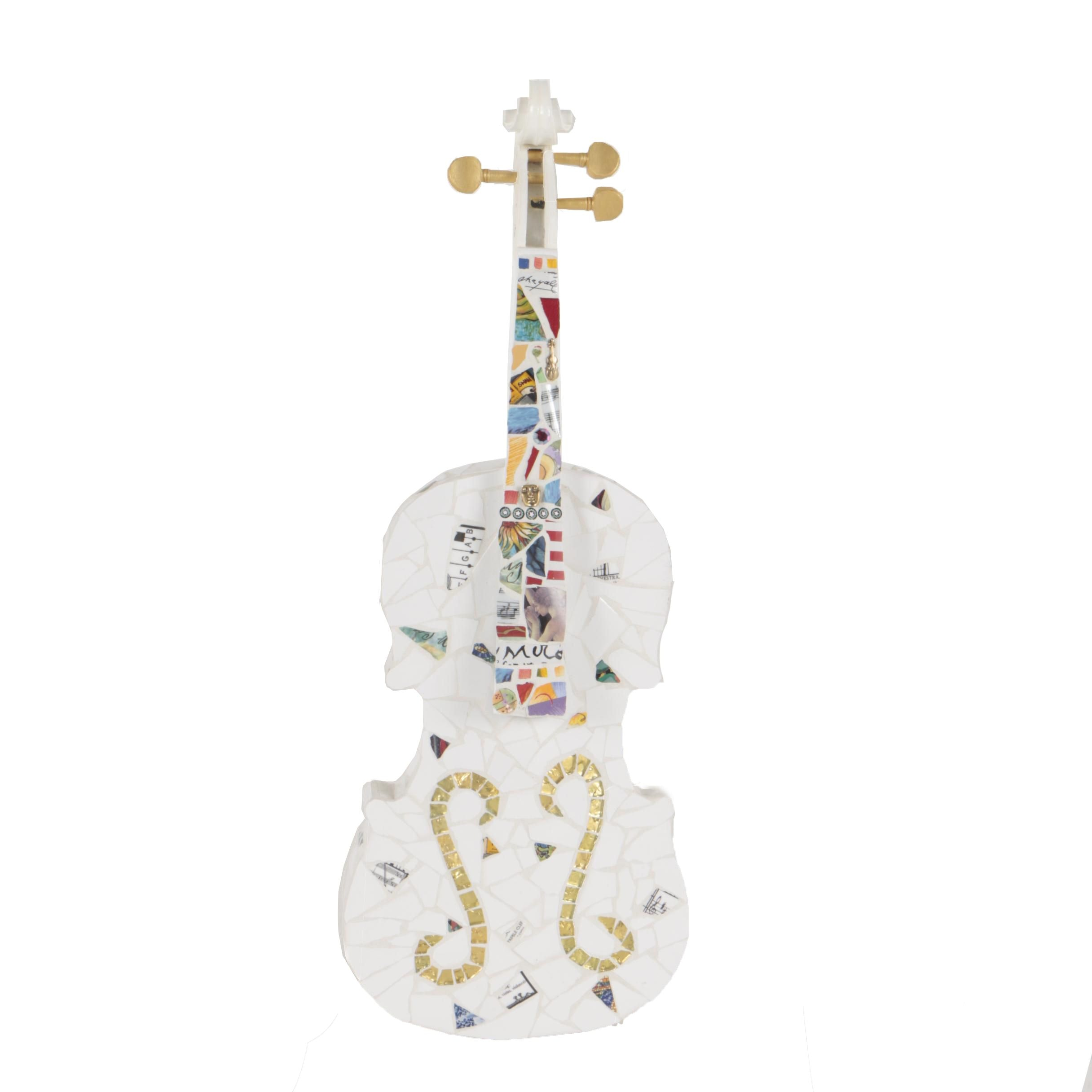 Chris Zonta Mosaic Violin Sculpture