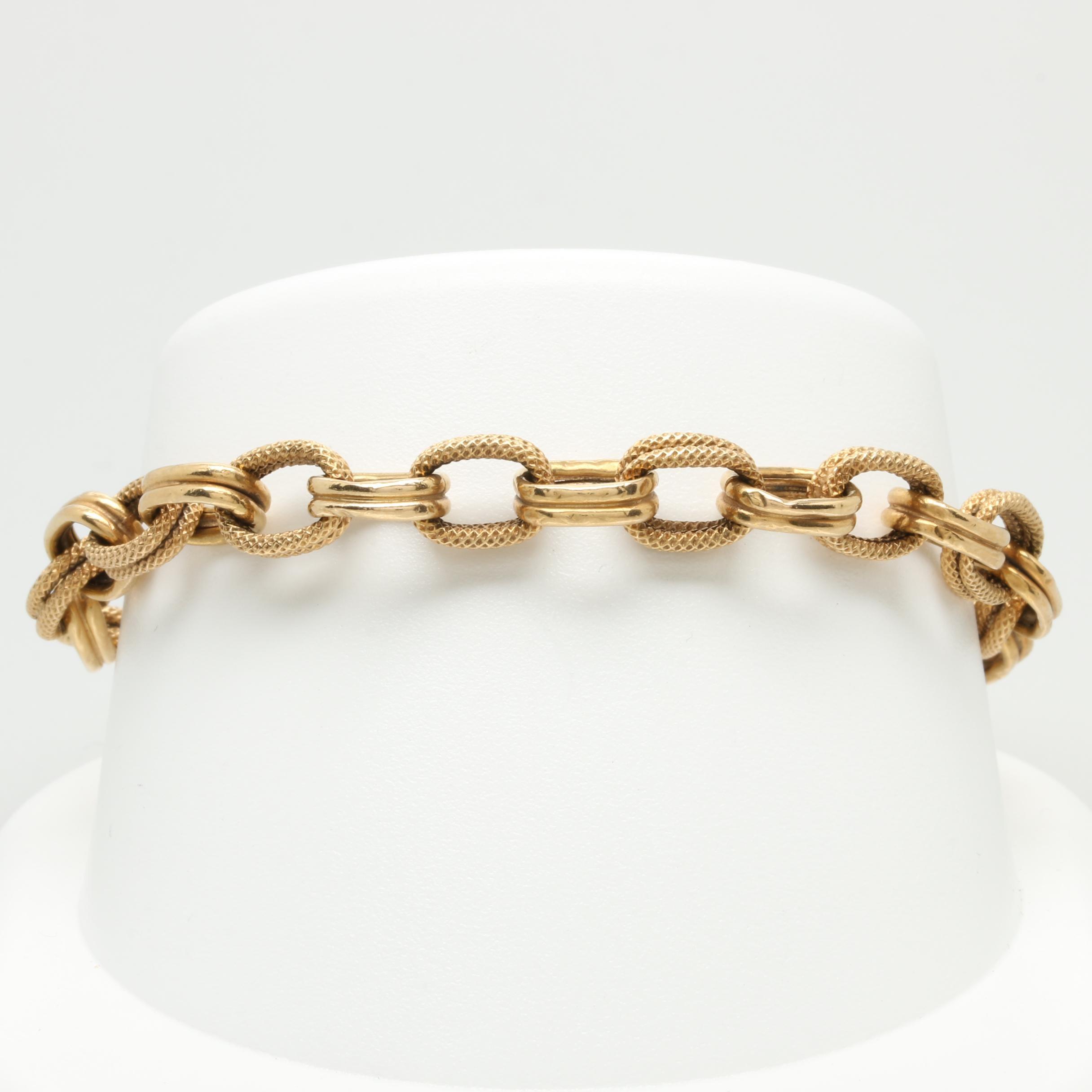 UnoAErre 18K Yellow Gold Fancy Link Bracelet