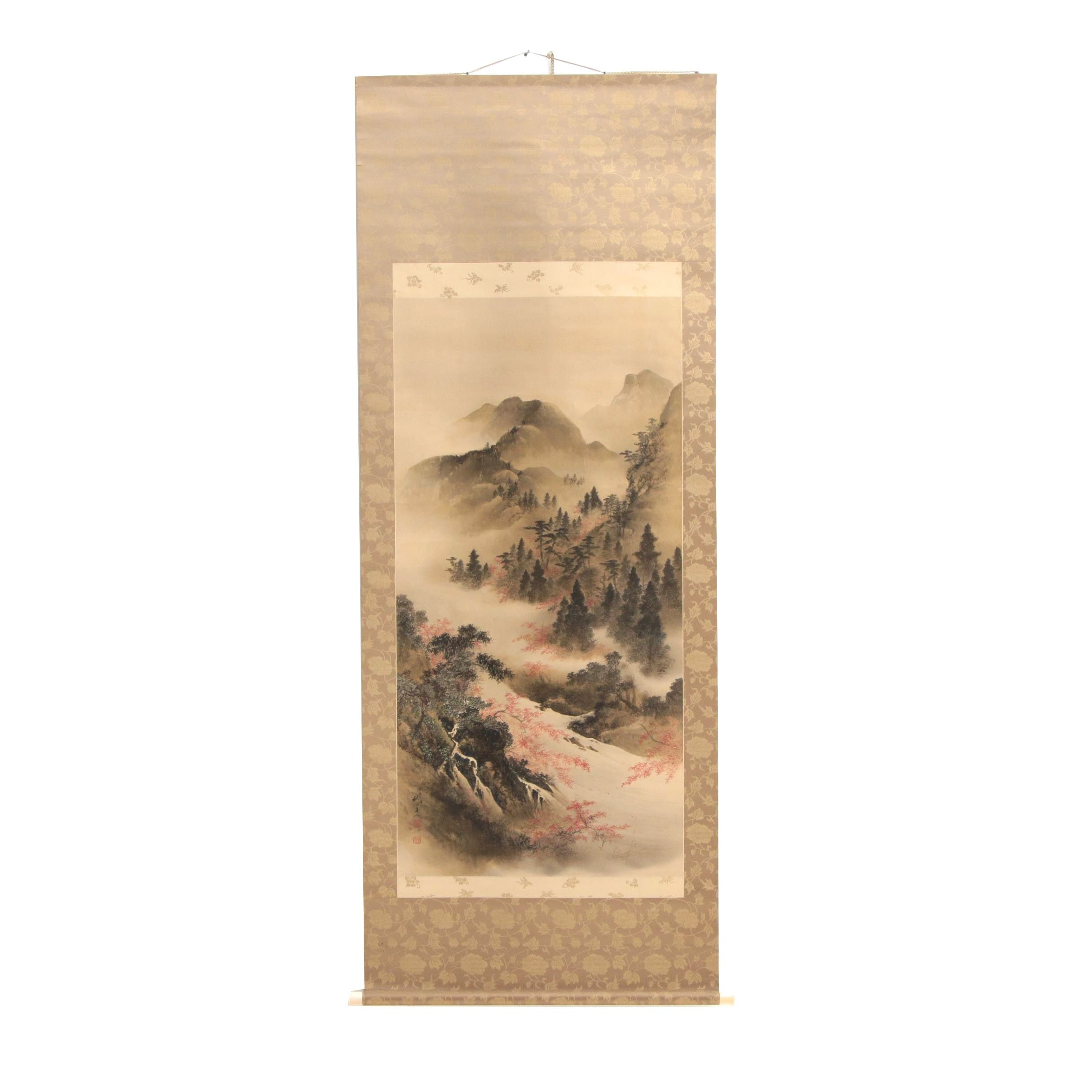 Hand-Painted Chinese Hanging Scroll
