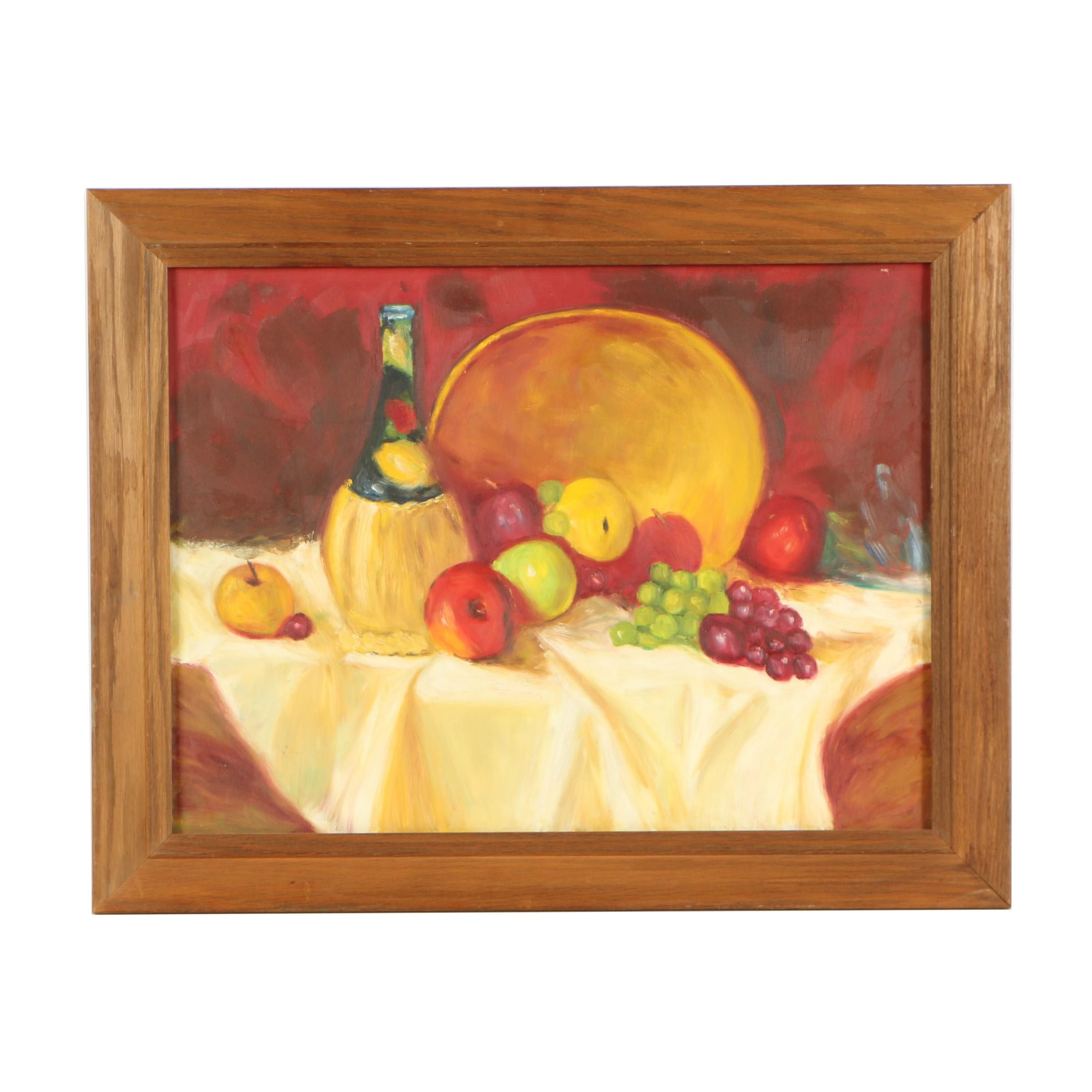 Mid 20th Century Still Life Oil Painting